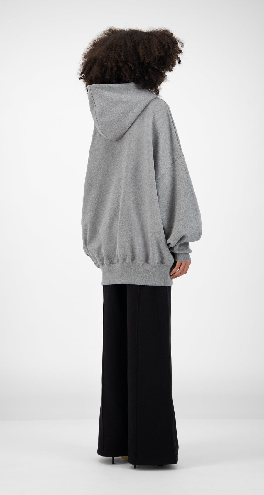 Daily Paper - Grey Horhine Hoody - Women Rear