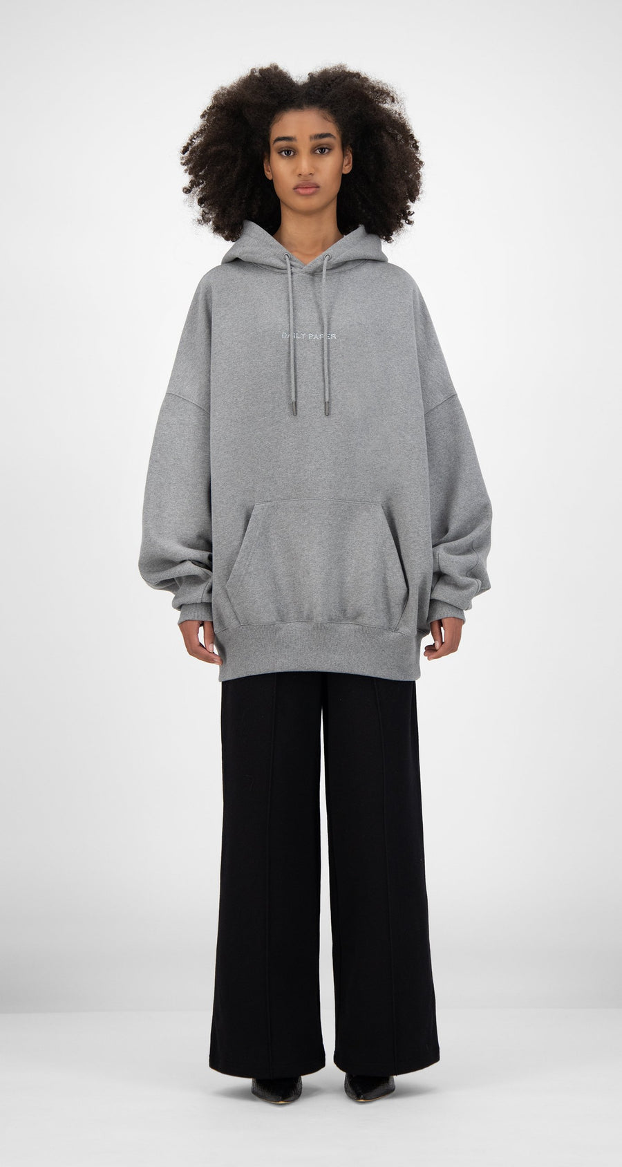 Daily Paper - Grey Horhine Hoody - Women Front
