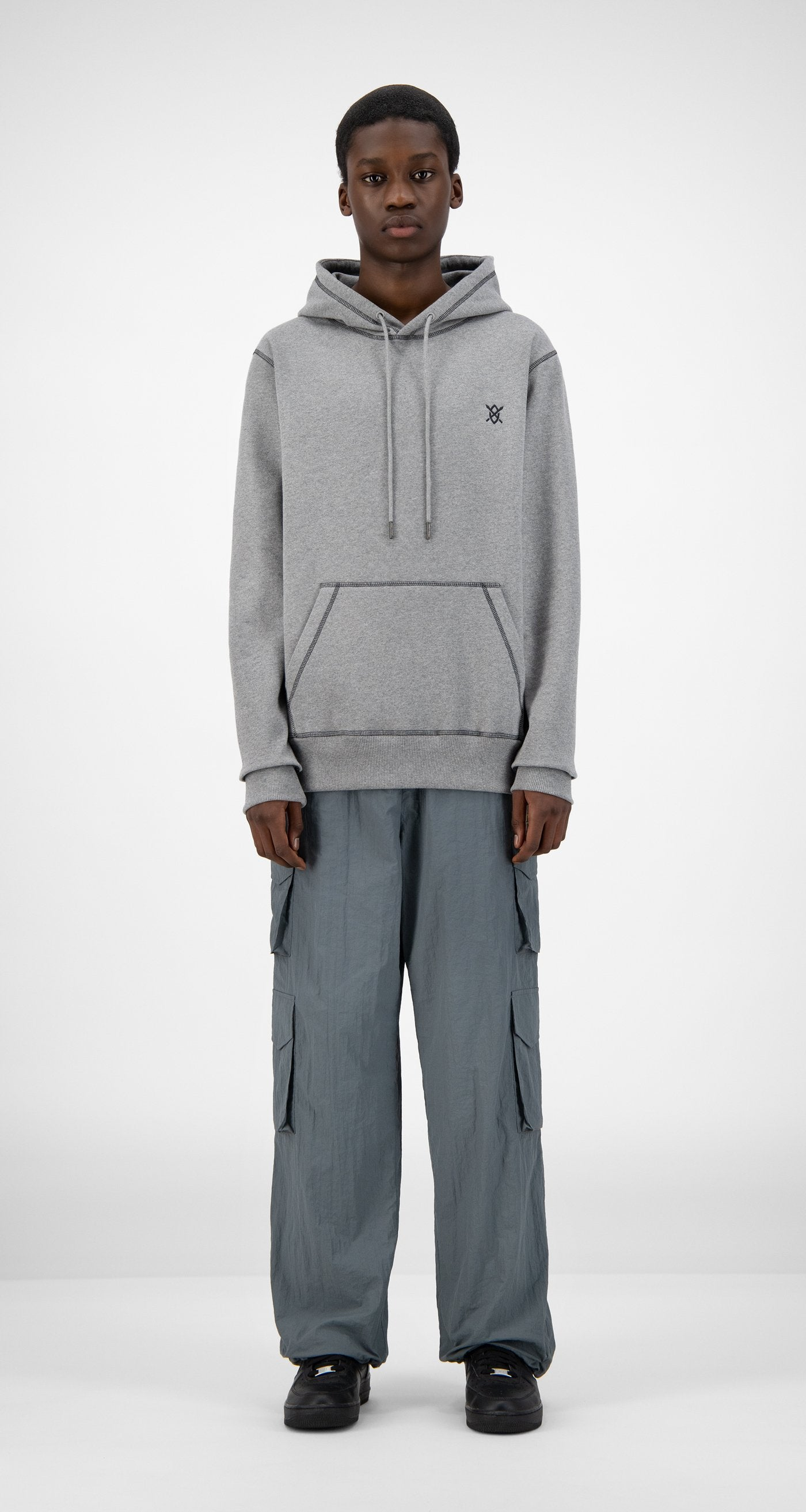 Daily Paper - Grey Hoshield Hoody - Men Front