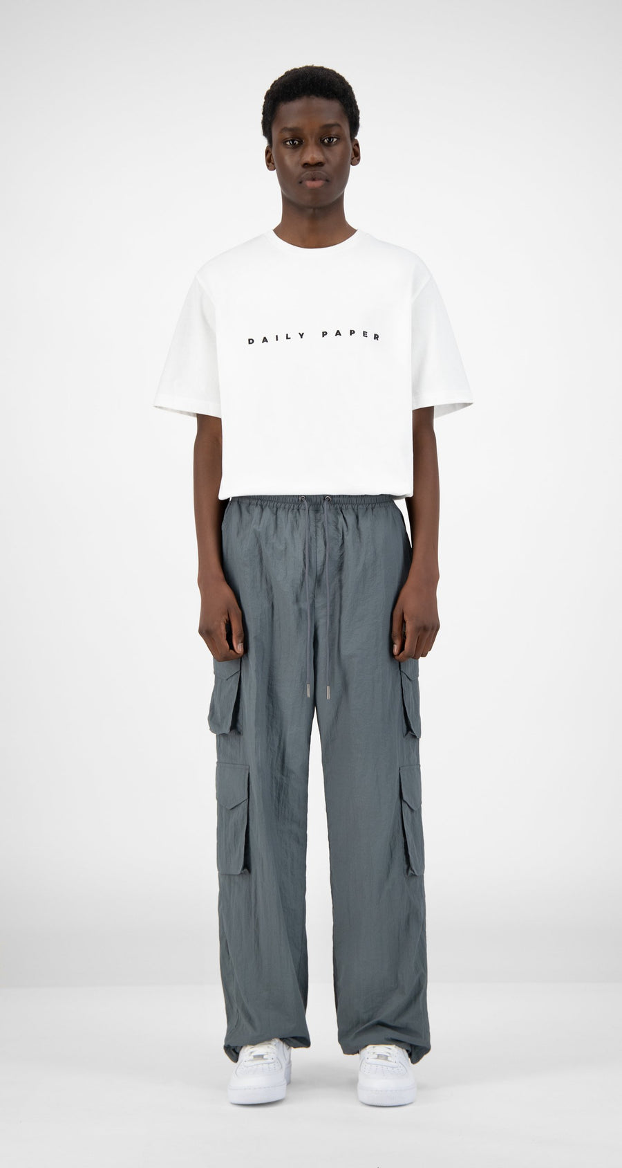 Daily Paper - Grey Hosine Pants - Men Front