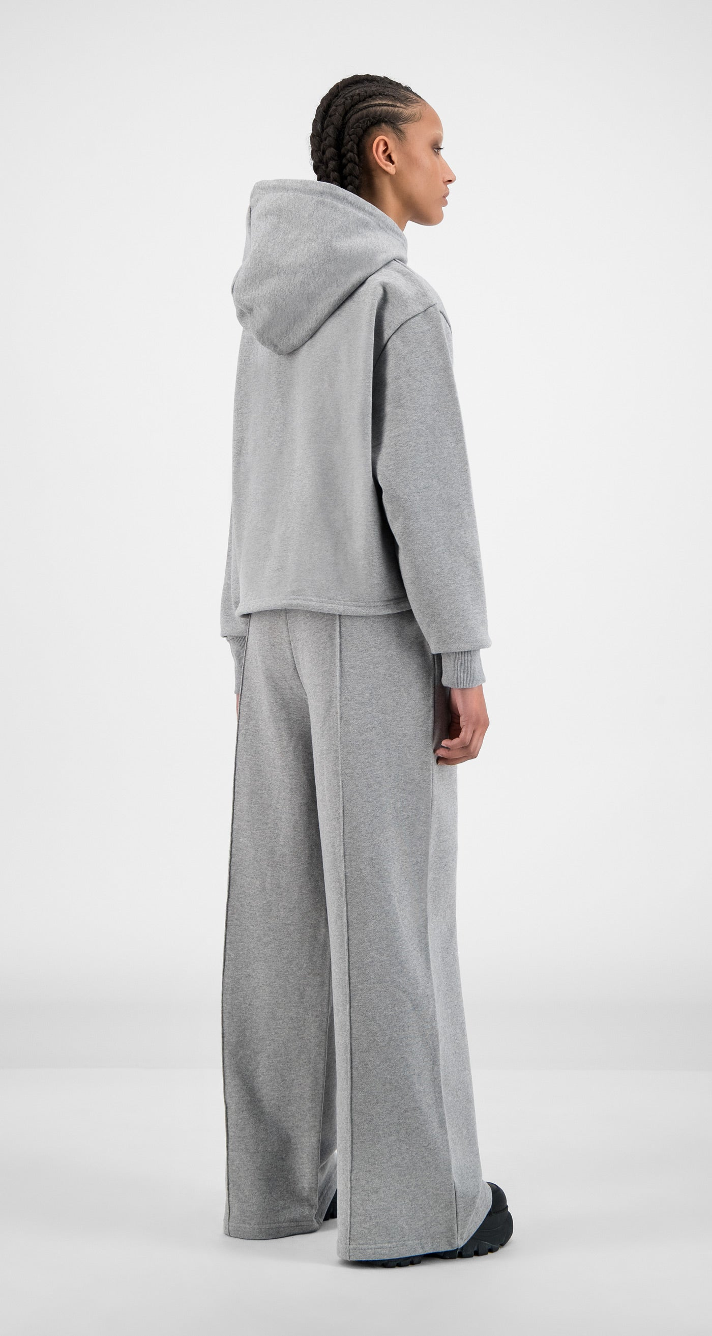 Daily Paper - Grey Howa Hoody - Women Rear