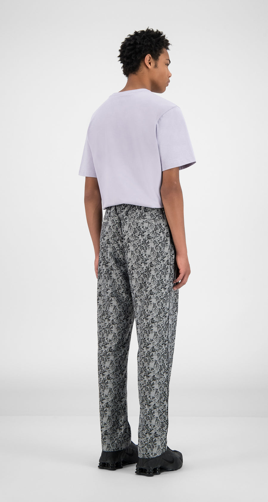Daily Paper - Grey Leaves Hezip Pants - Men Rear