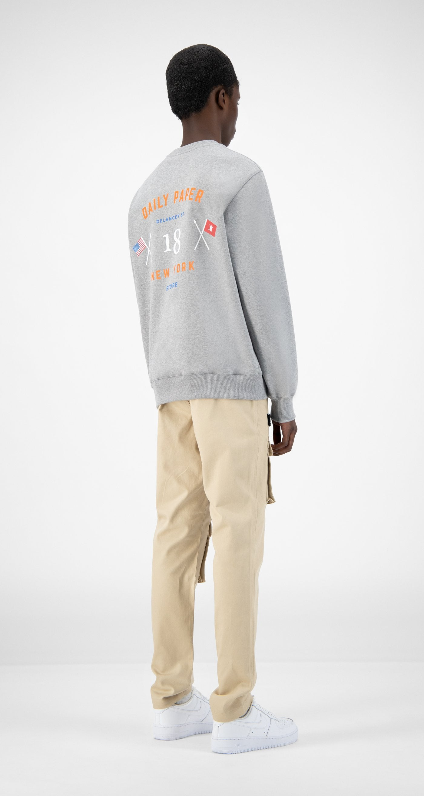 Daily Paper - Grey NYC Store Sweater - Men Rear
