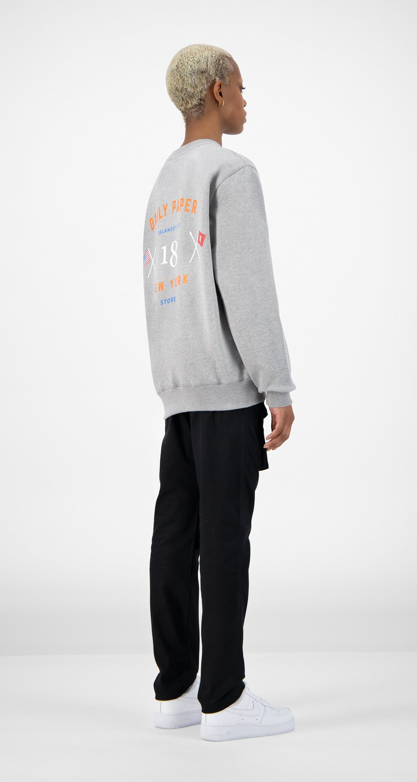 Daily Paper - Grey NYC Store Sweater - Women Rear