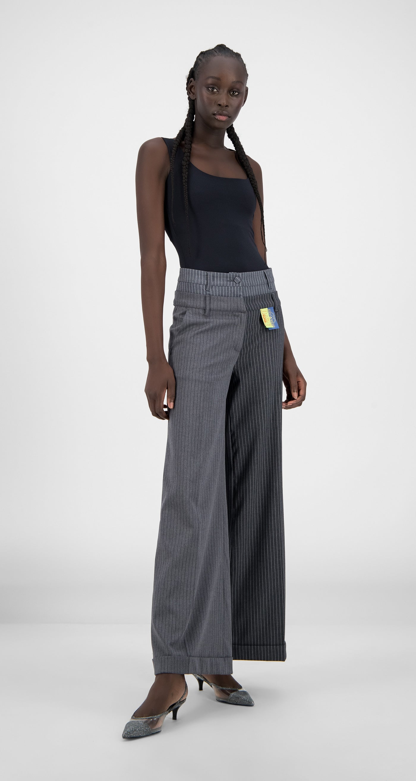 Daily Paper - Grey Pinstripe Heck Pants - Women