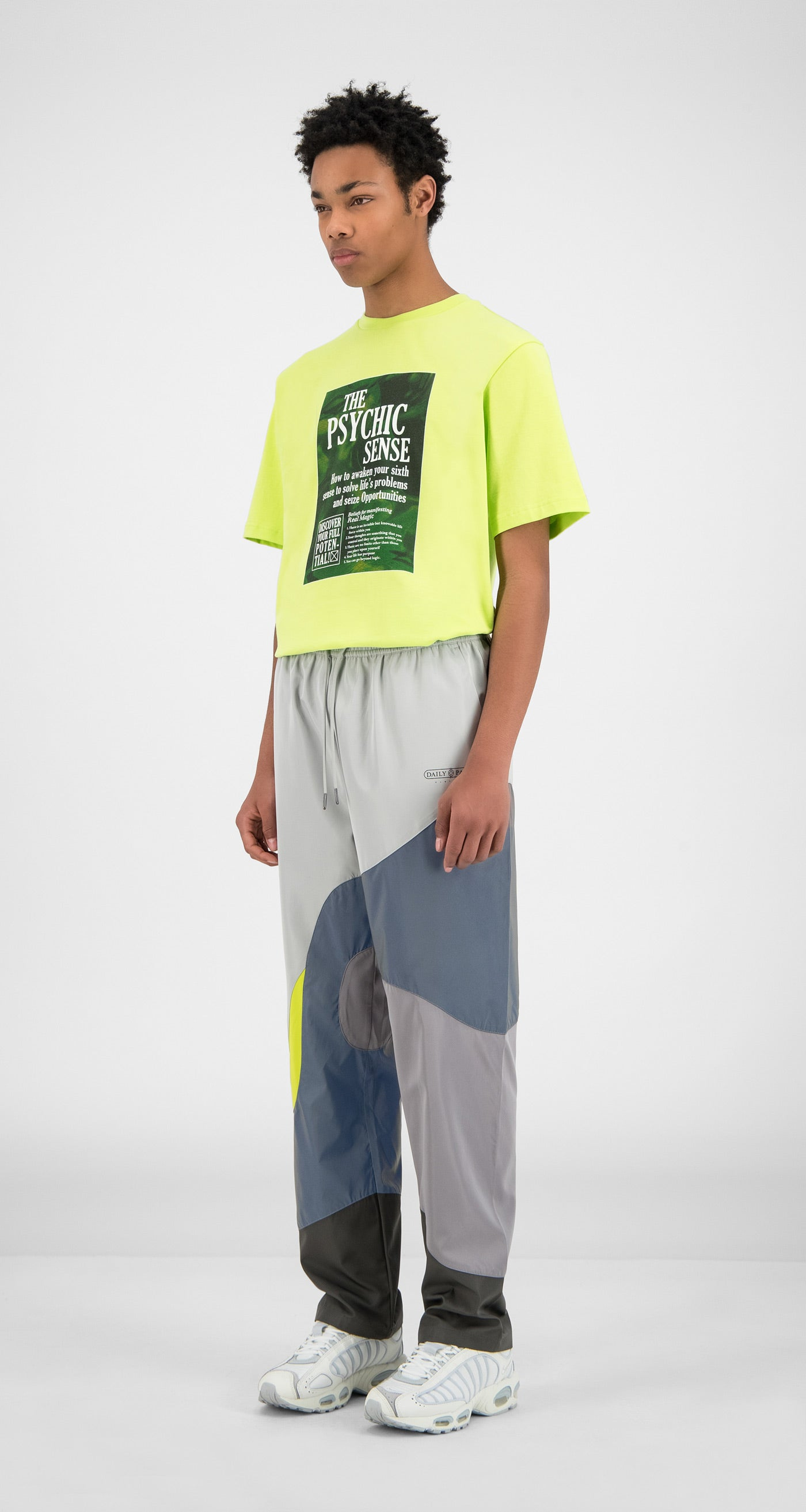 Daily Paper - Grey Reflective Green Huka Pants - Men