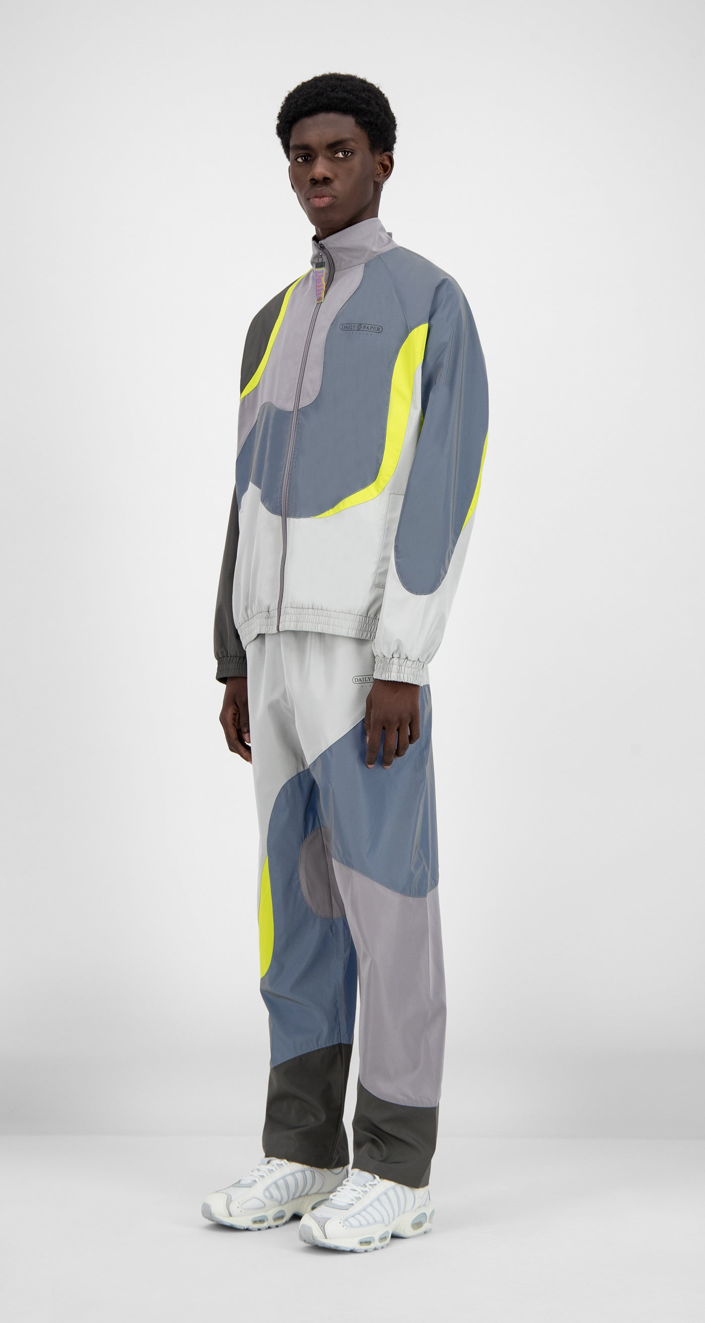 Daily Paper - Grey Reflective Green Hasah Top - Men