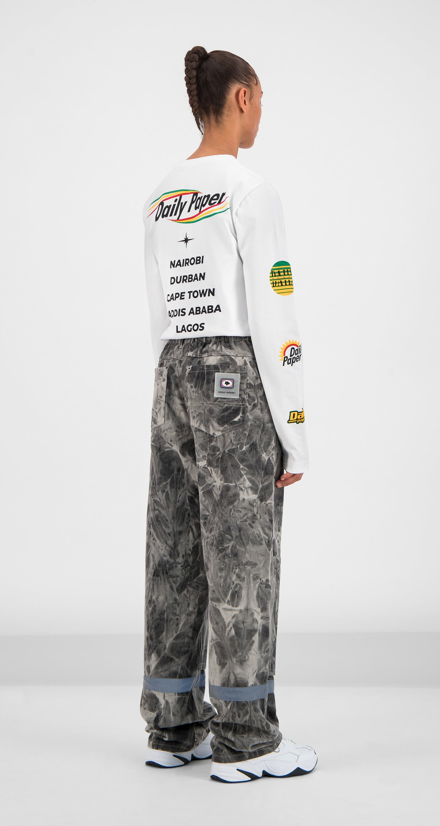 Daily Paper - Grey Tie Dye Gefac Pants Women Rear