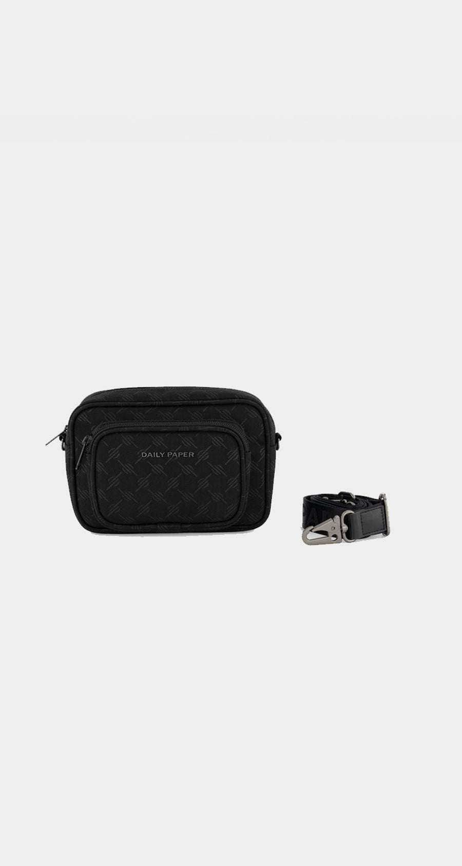 Daily Paper - Black Monogram Homea Bag - Front