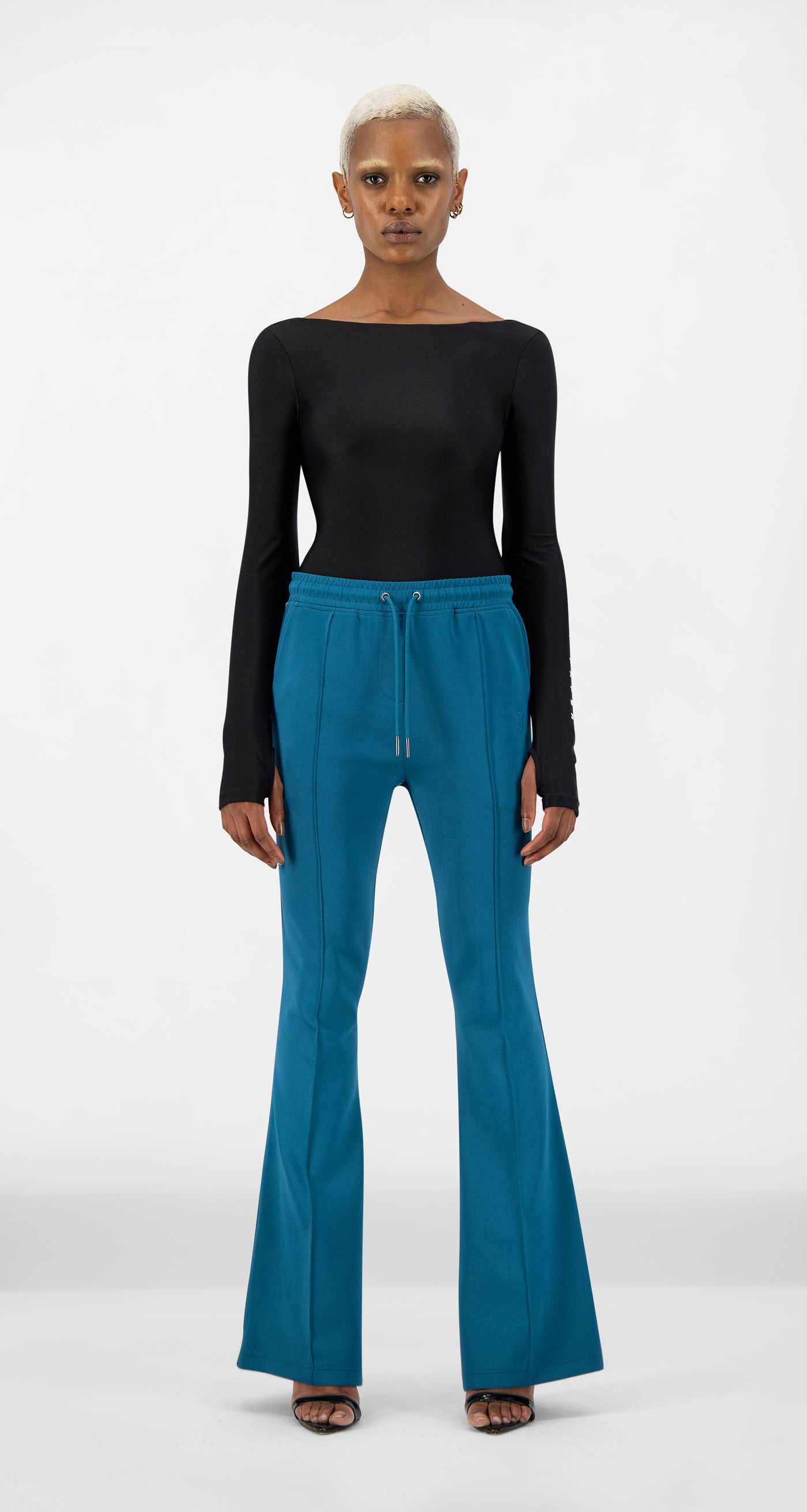 Daily Paper - Ink Blue Etape Flare Pants - Women Front