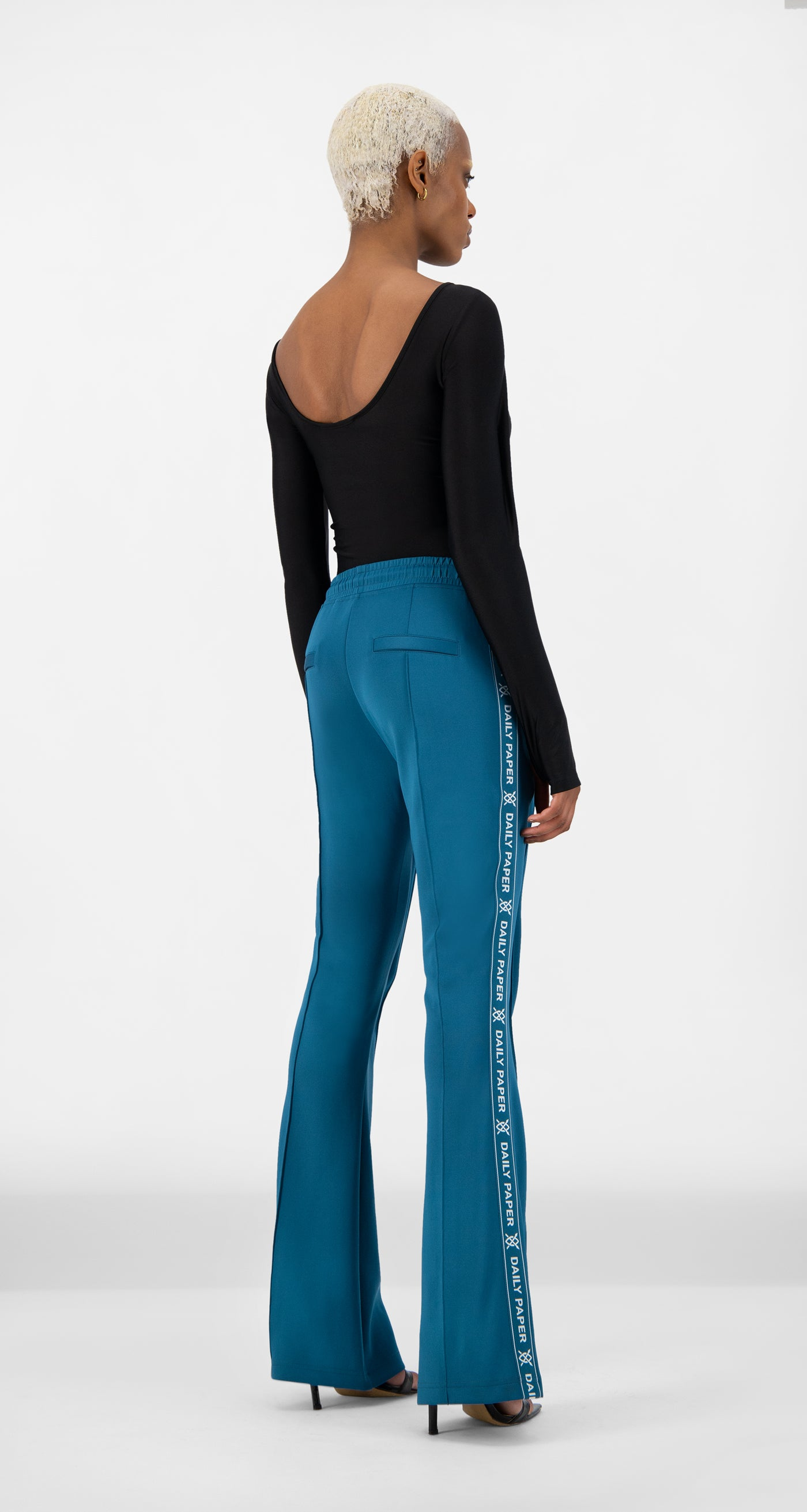 Daily Paper - Ink Blue Etape Flare Pants - Women Rear