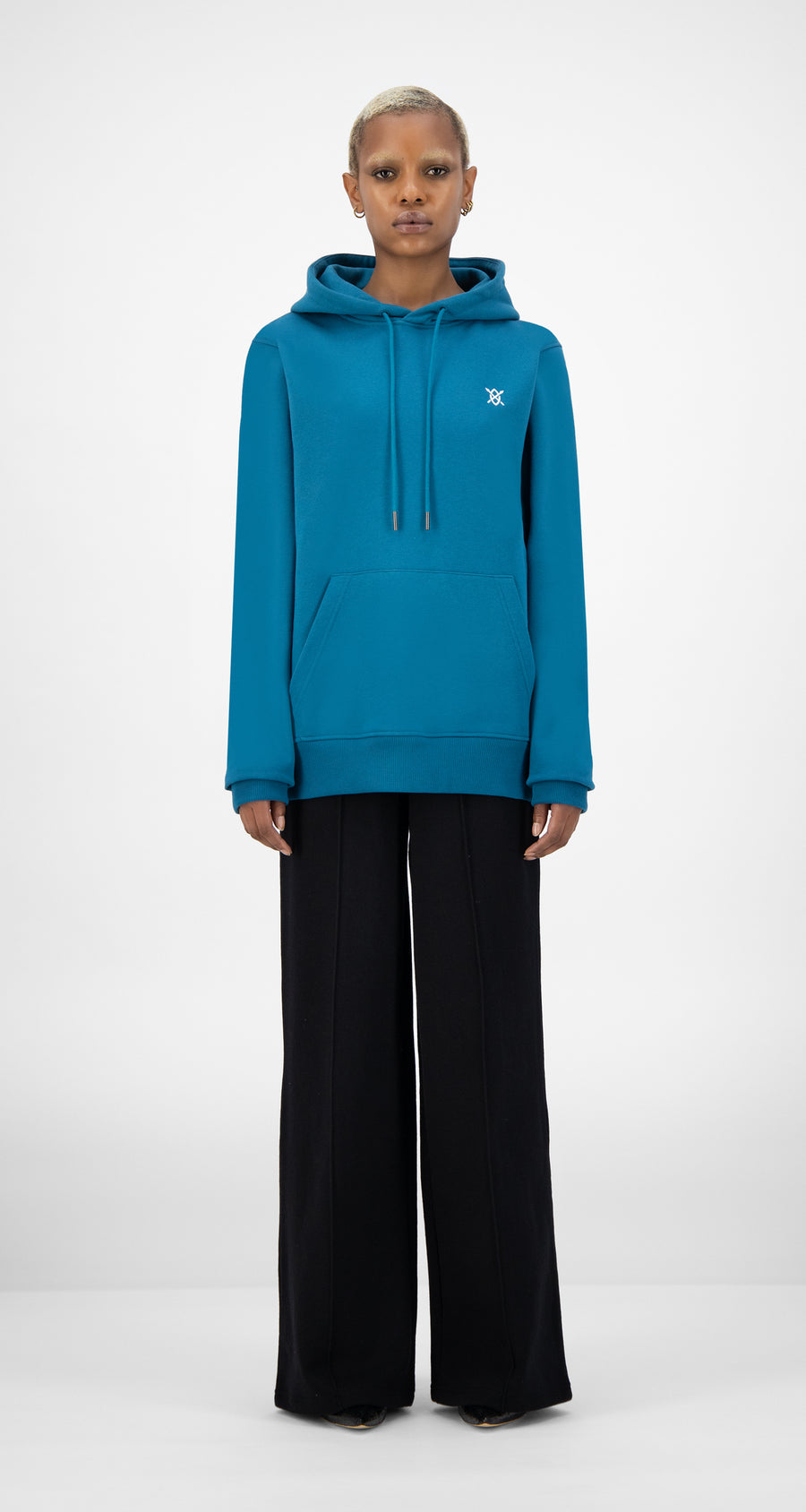 Daily Paper - Ink Blue Shield Hoody - Women Front