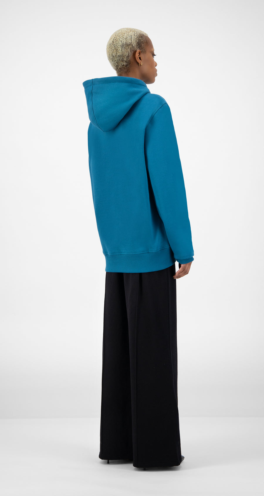 Daily Paper - Ink Blue Shield Hoody - Women Rear