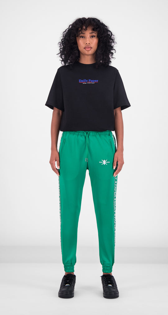 Daily Paper - Jolly Green Tape Logo Track Pants Women Front