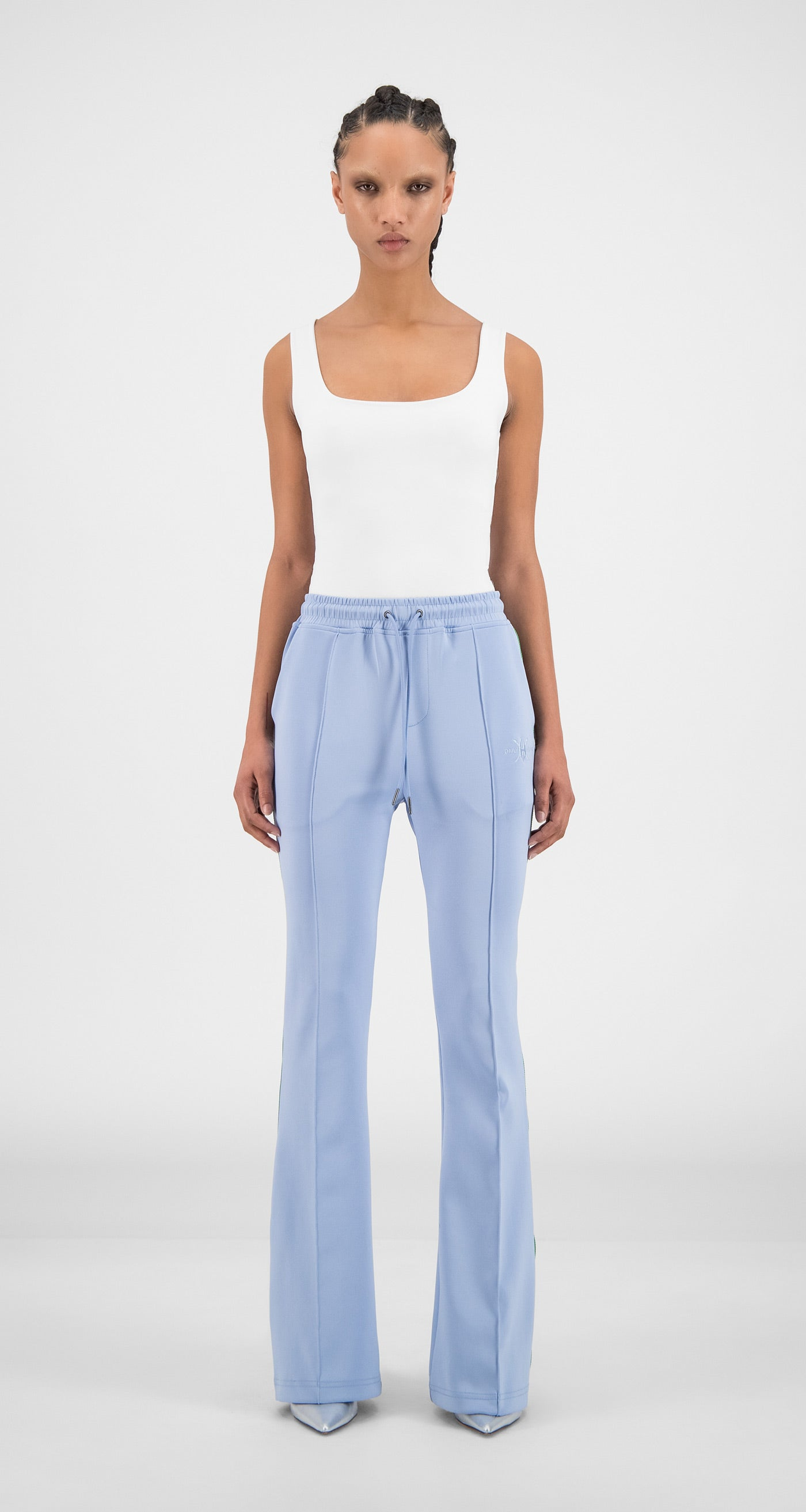 Daily Paper - Kentucky Blue Flair Tape Pants - Women Front