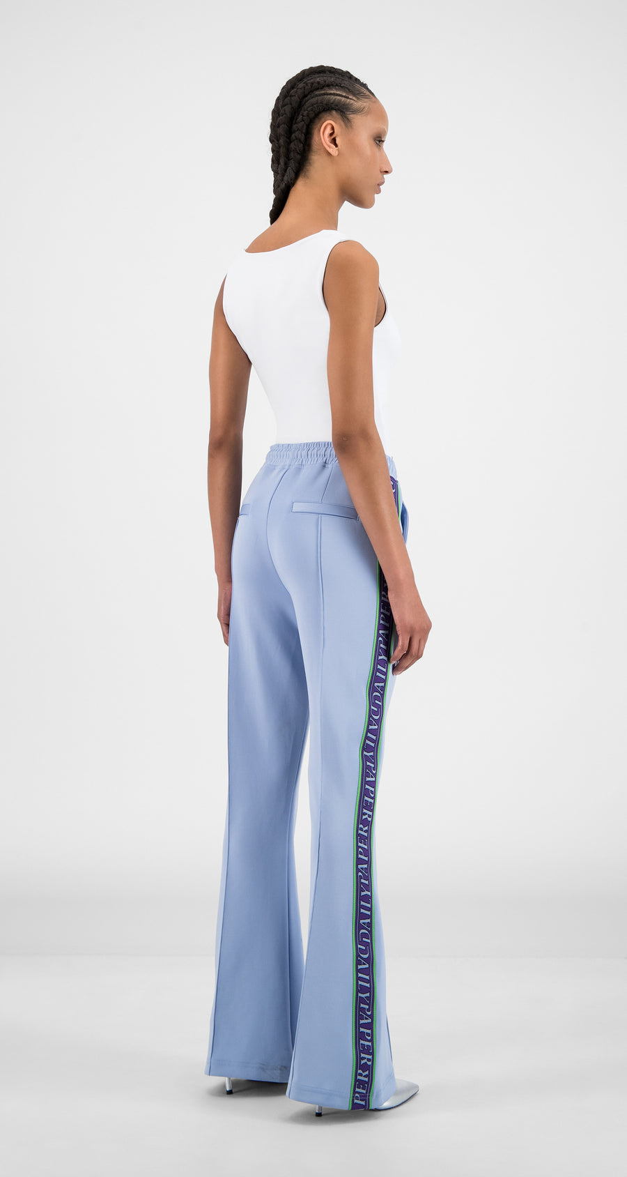 Daily Paper - Kentucky Blue Flair Tape Pants - Women Rear