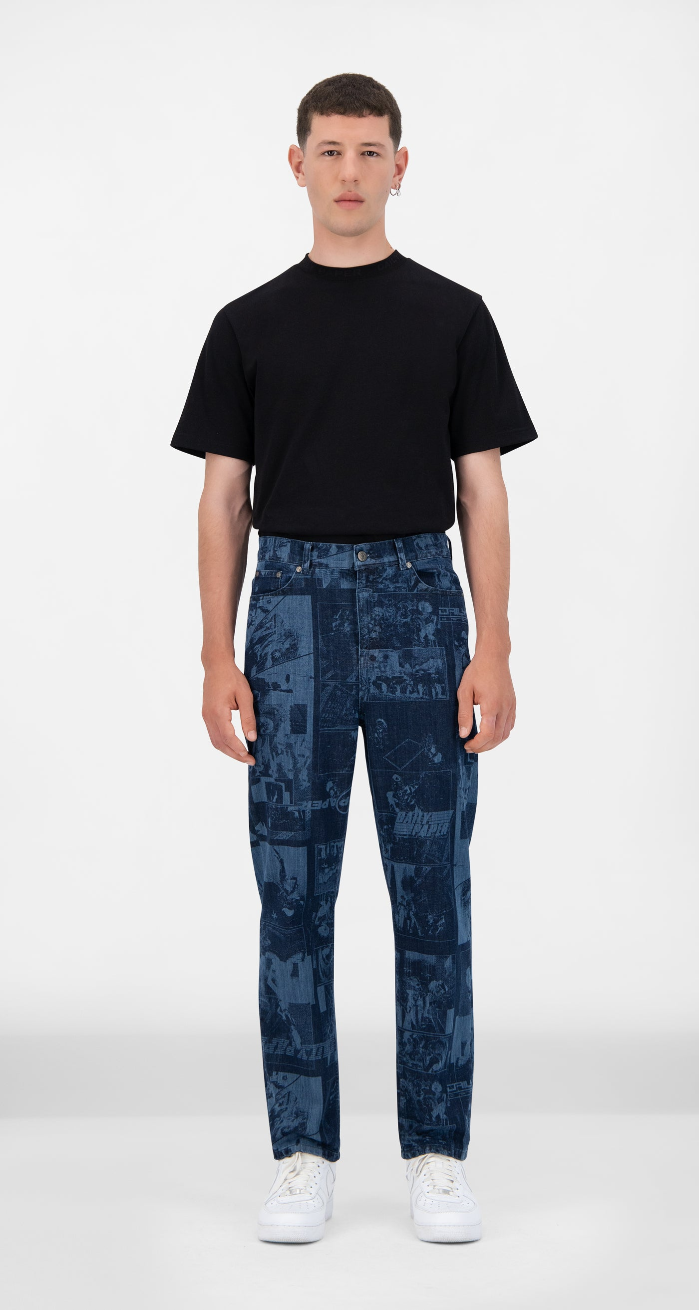 Daily Paper - Lazered Denim Jarzeb Pants - Men Front