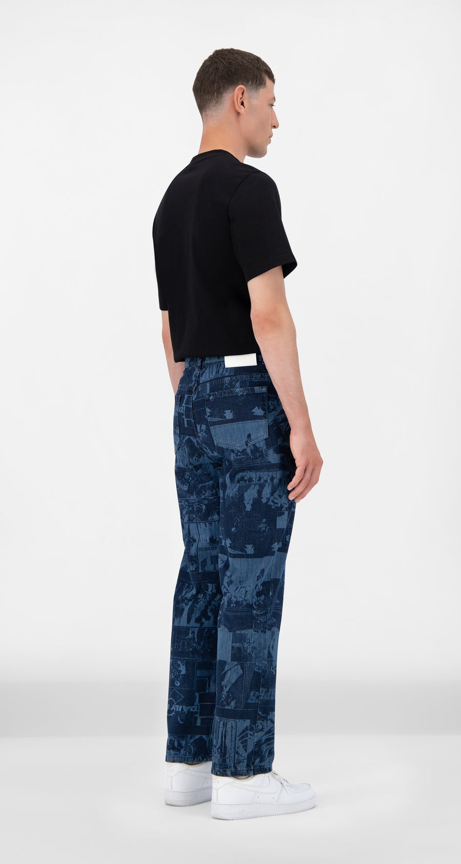 Daily Paper - Lazered Denim Jarzeb Pants - Men Rear