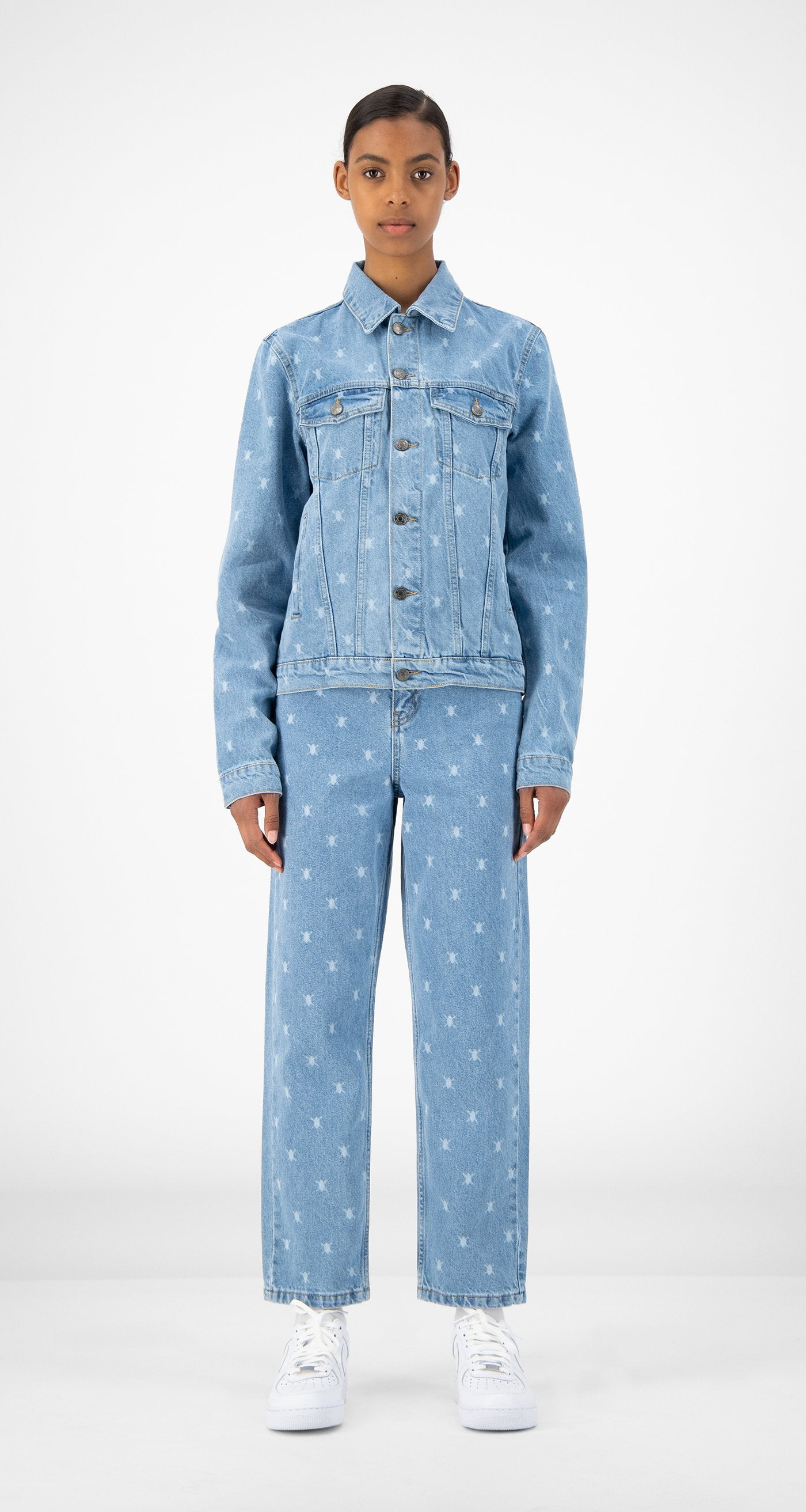 Daily Paper - Blue Denim Rejean Jacket - Women Front