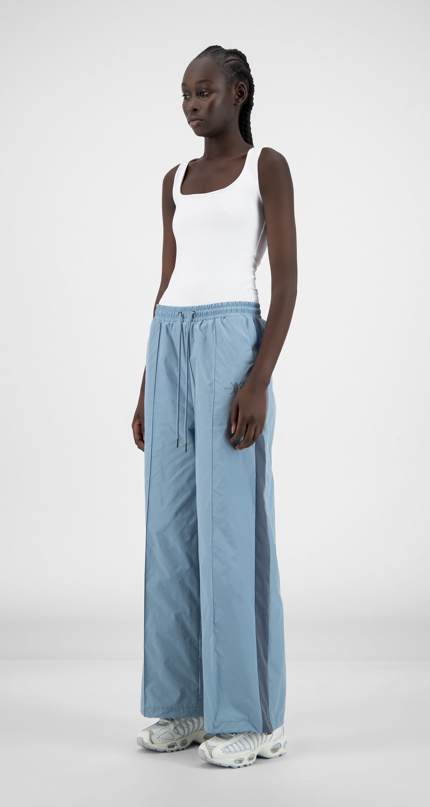 Daily Paper - Blue Nylon Reflective Hifare Pants - Women