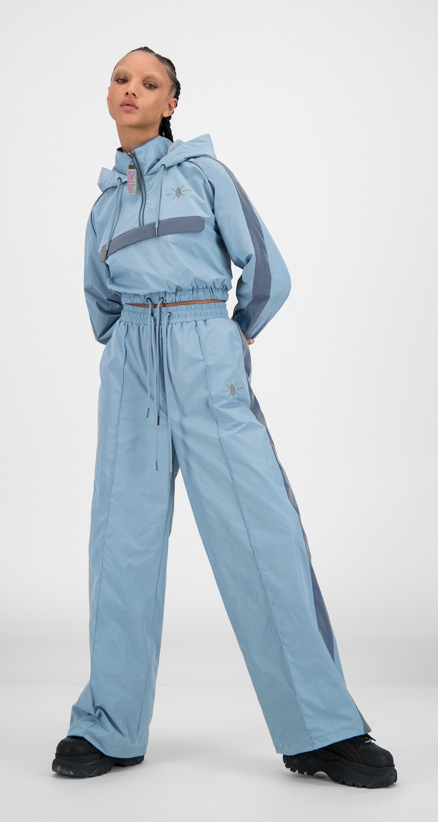 Daily Paper - Blue Nylon Reflective Hano Jacket - Women