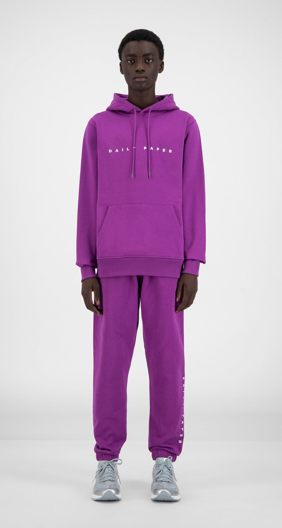 Daily Paper - Magenta Purple Alias Hoody - Men Front