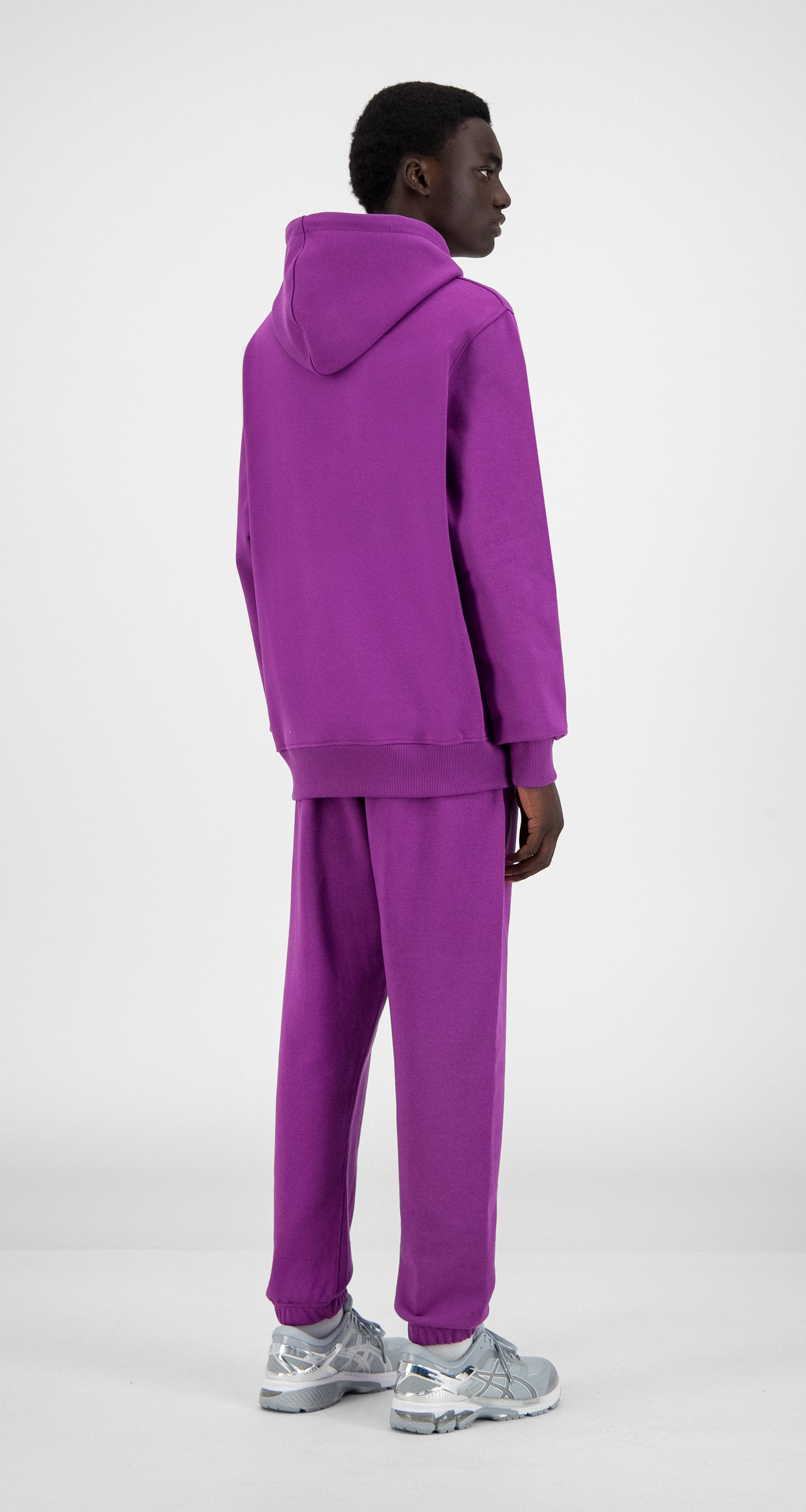 Daily Paper - Magenta Purple Alias Hoody - Men Rear