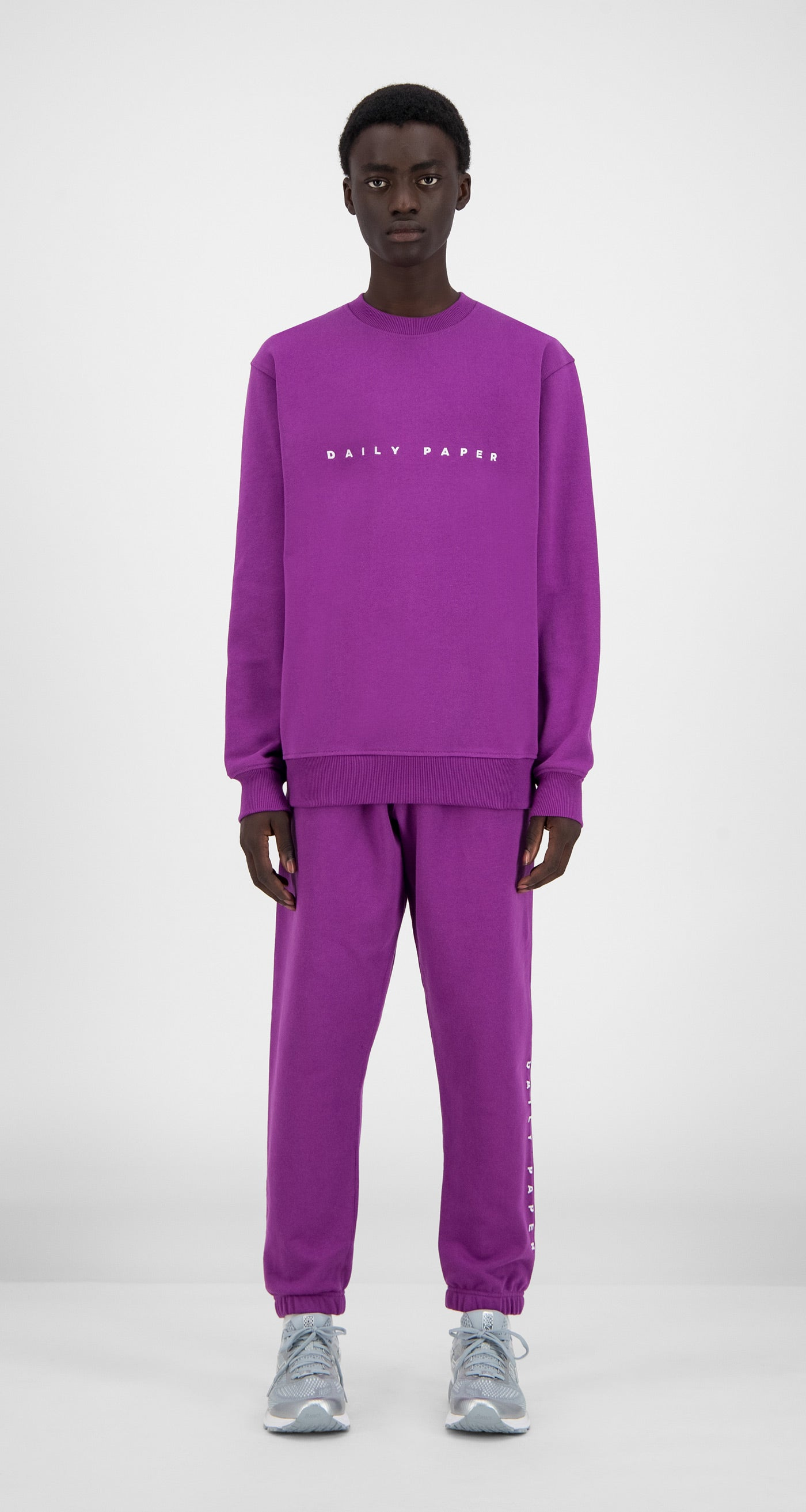 Daily Paper - Magenta Purple Alias Sweater - Men Front