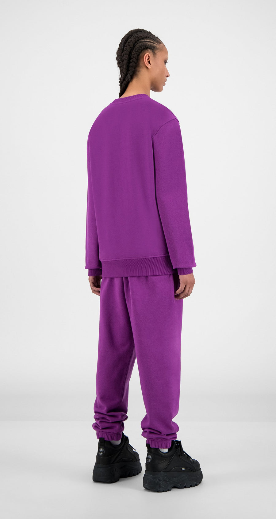 Daily Paper - Magenta Purple Alias Sweater - Women Rear