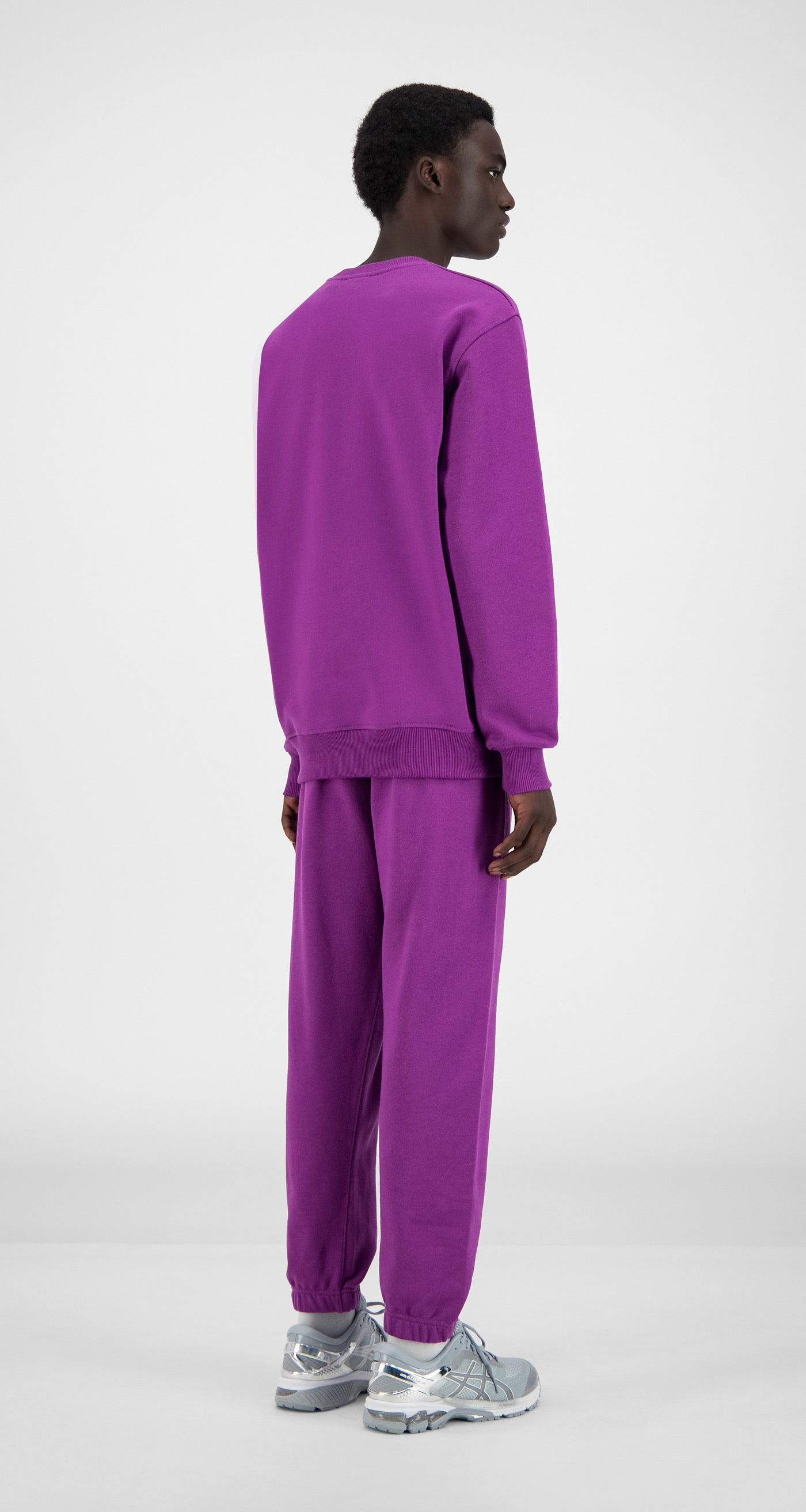 Daily Paper - Magenta Purple Alias Sweater - Men Rear