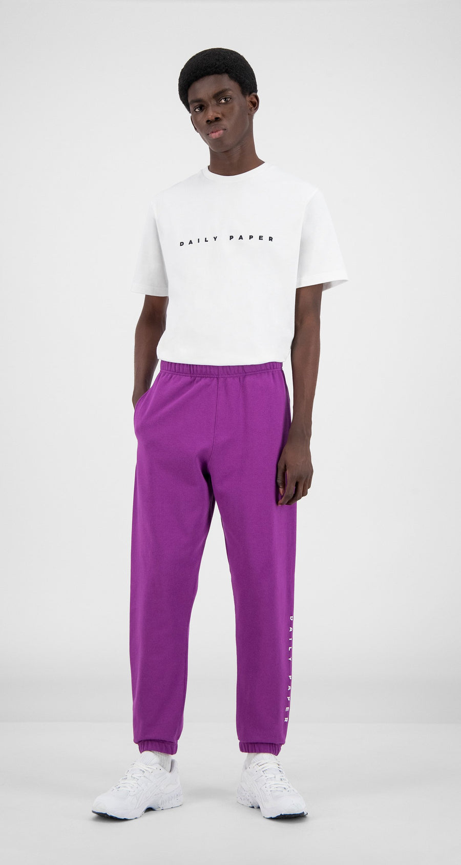 Daily Paper - Magenta Purple Alias Sweatpants - Men Front