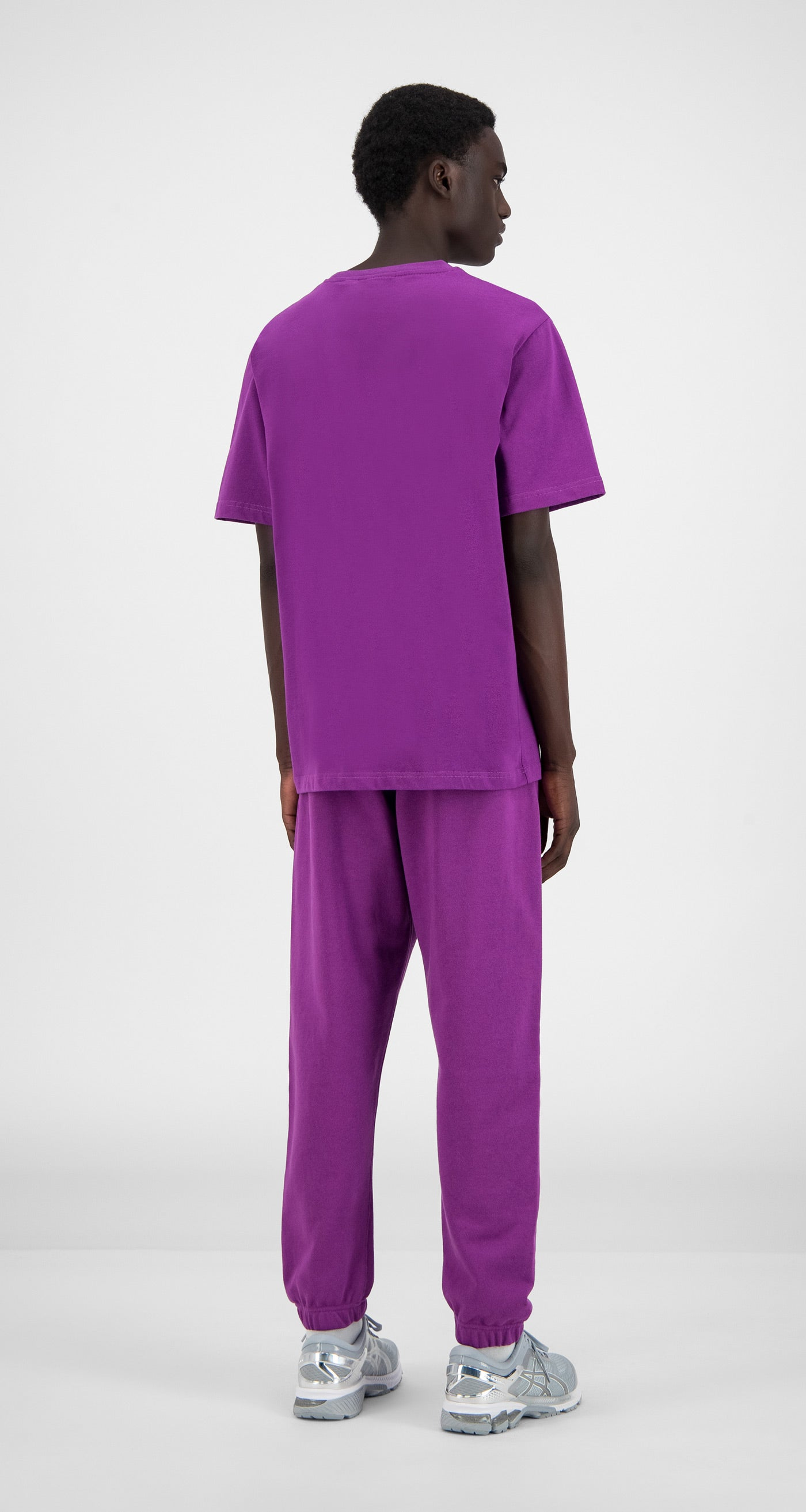 Daily Paper - Magenta Purple Alias T-Shirt - Men Rear