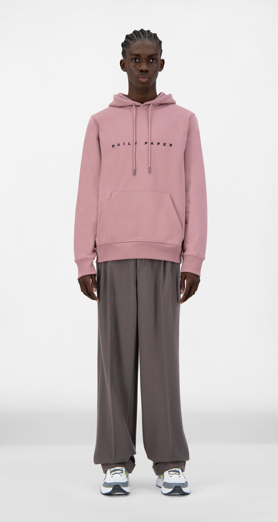 Daily Paper - Mauve Pink Alias Hoody - Men Front