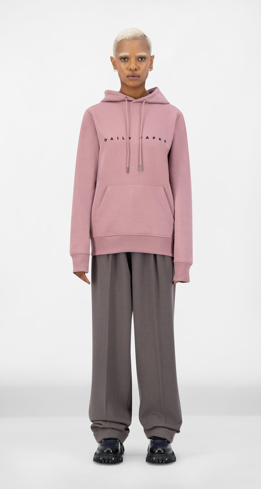 Daily Paper - Mauve Pink Alias Hoody - Women Front