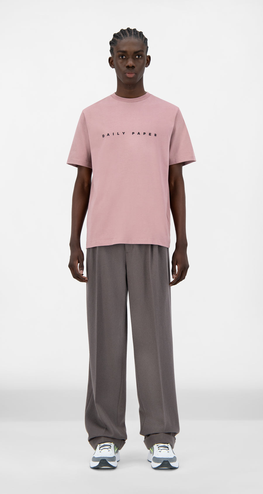 Daily Paper - Mauve Pink Alias T-Shirt - Men Front