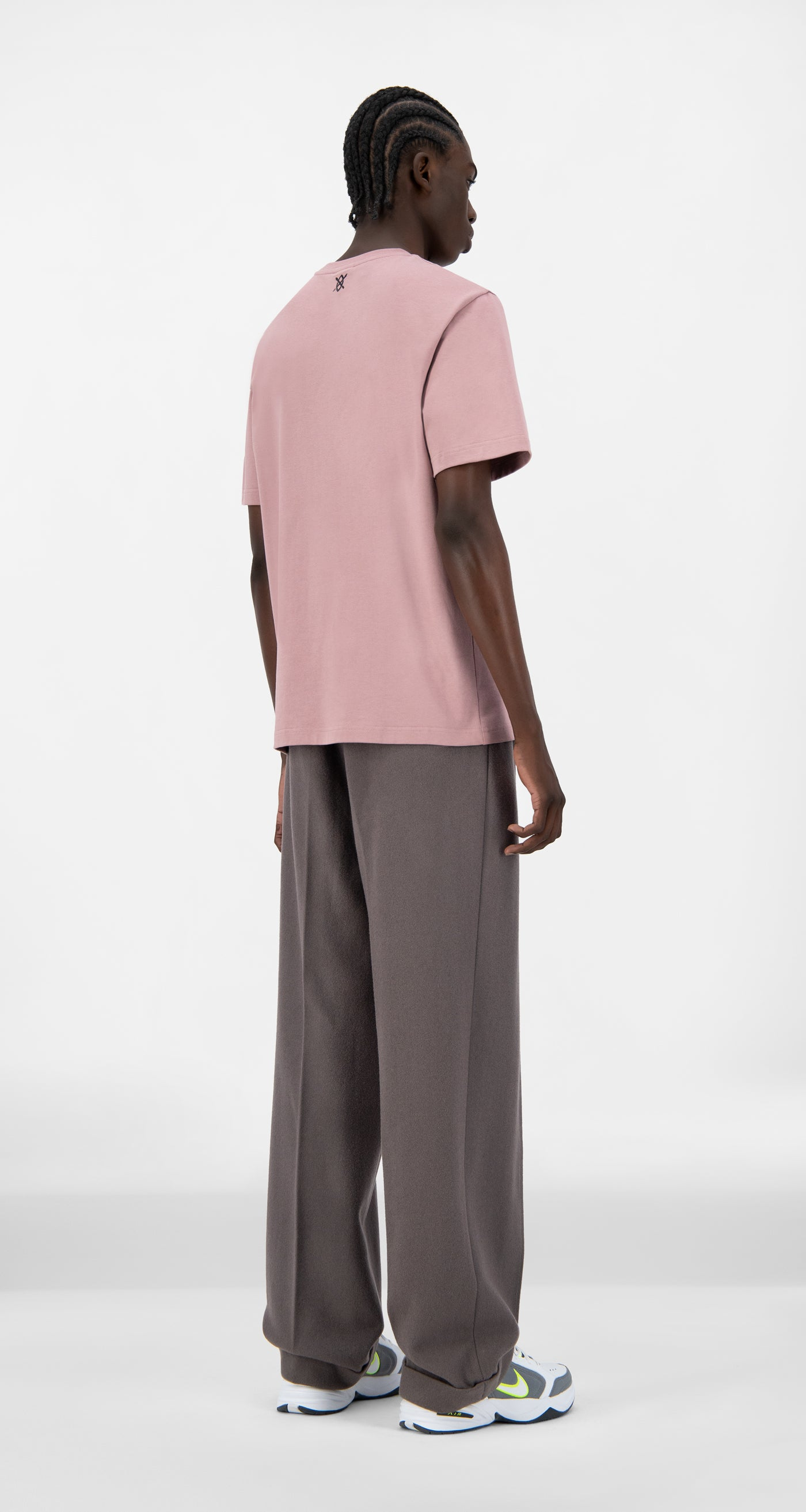 Daily Paper - Mauve Pink Alias T-Shirt - Men Rear