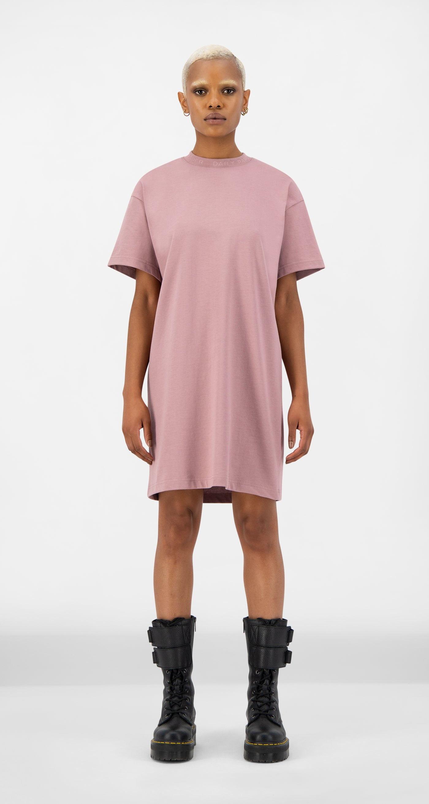 Daily Paper - Mauve Pink Derib Dress - Women Front