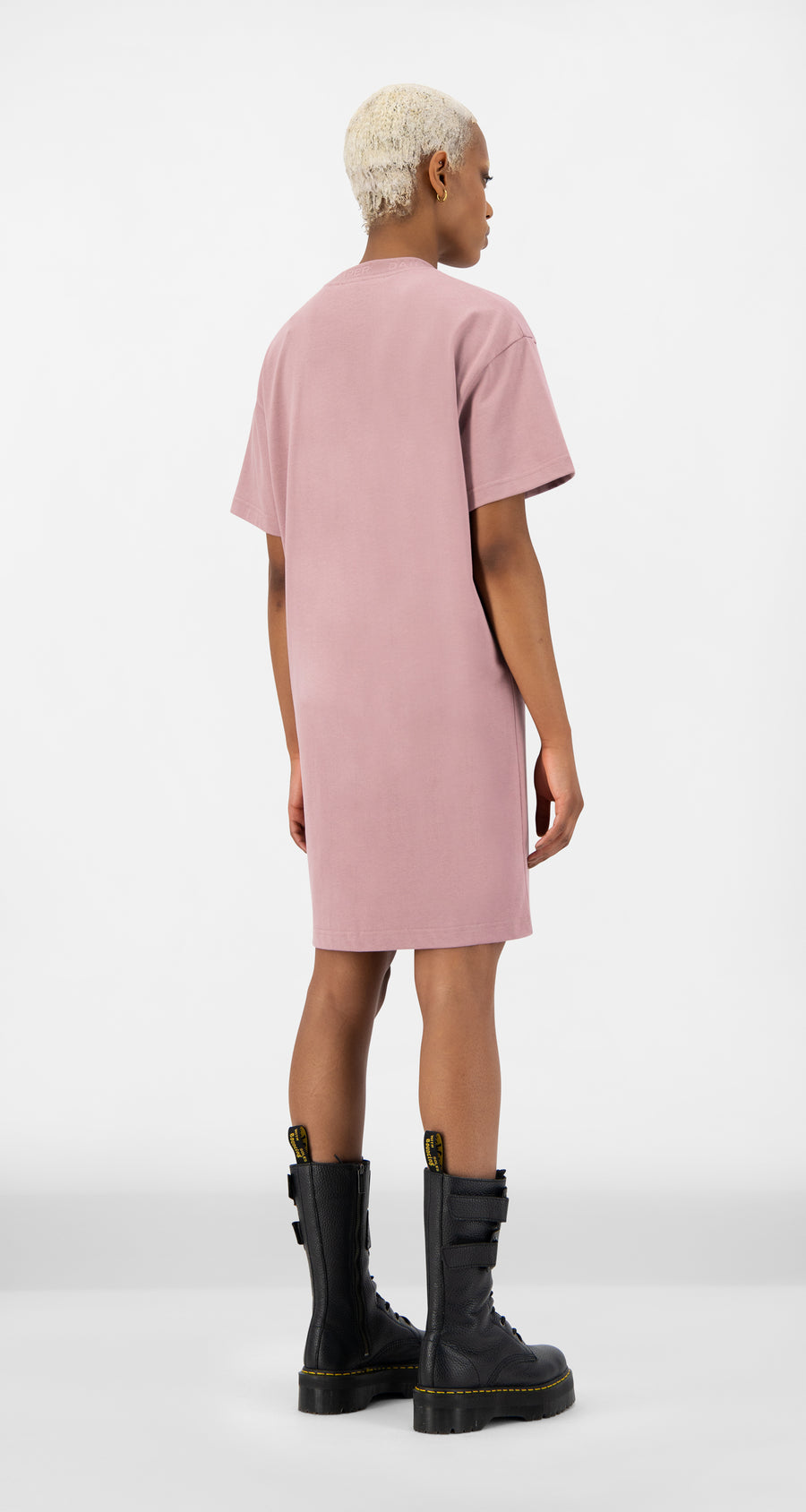 Daily Paper - Mauve Pink Derib Dress - Women Rear