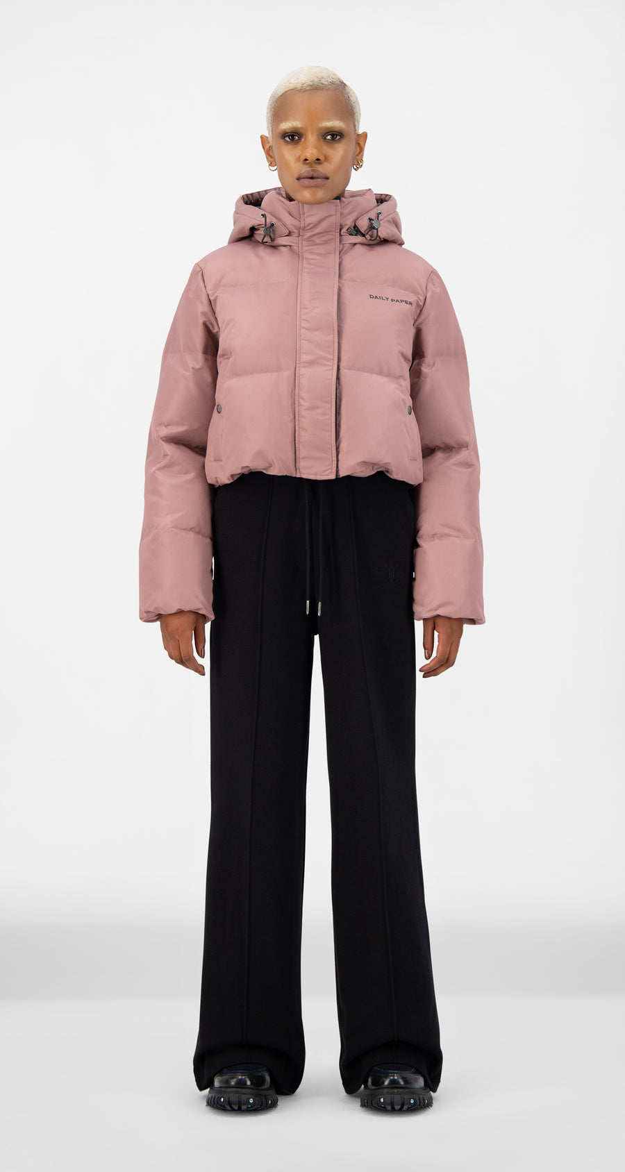 Daily Paper - Mauve Pink Epuff Cropped Jacket - Women Front