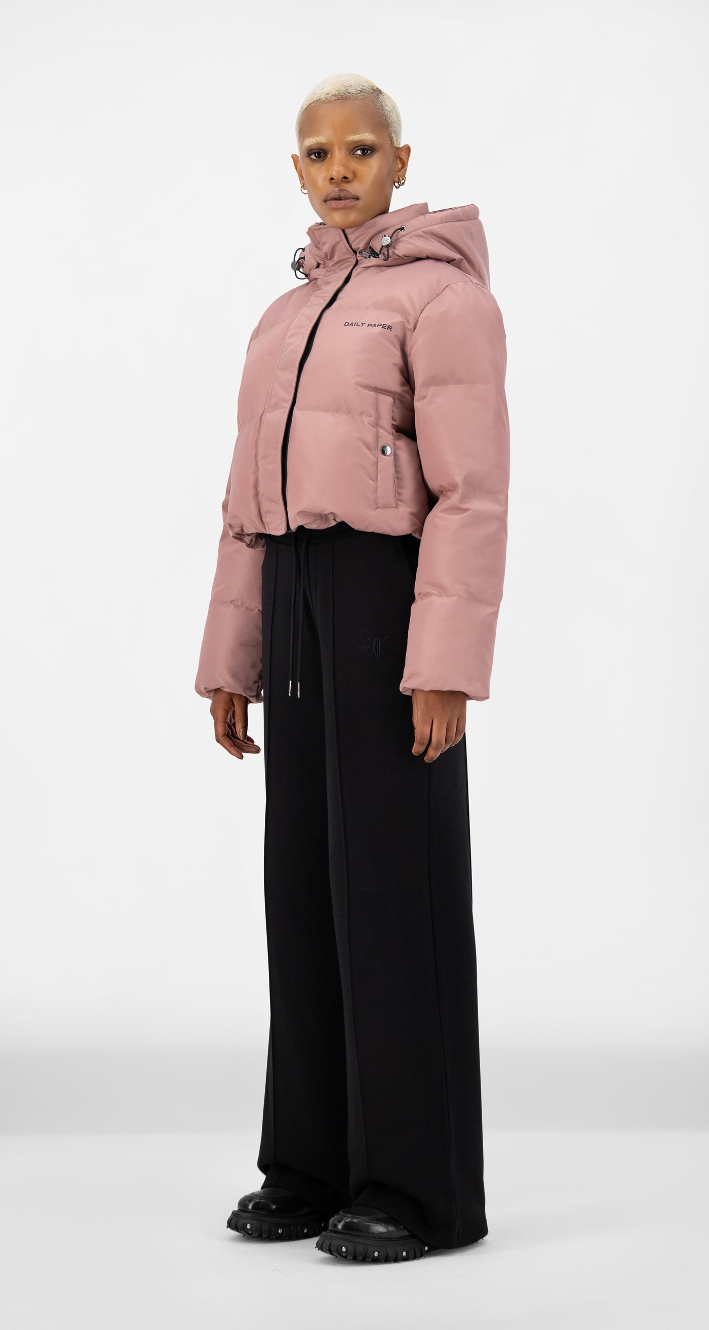 Daily Paper - Mauve Pink Epuff Cropped Jacket - Women