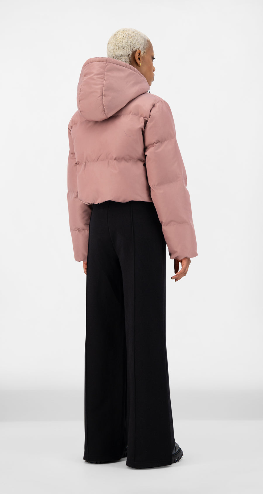 Daily Paper - Mauve Pink Epuff Cropped Jacket - Women Rear