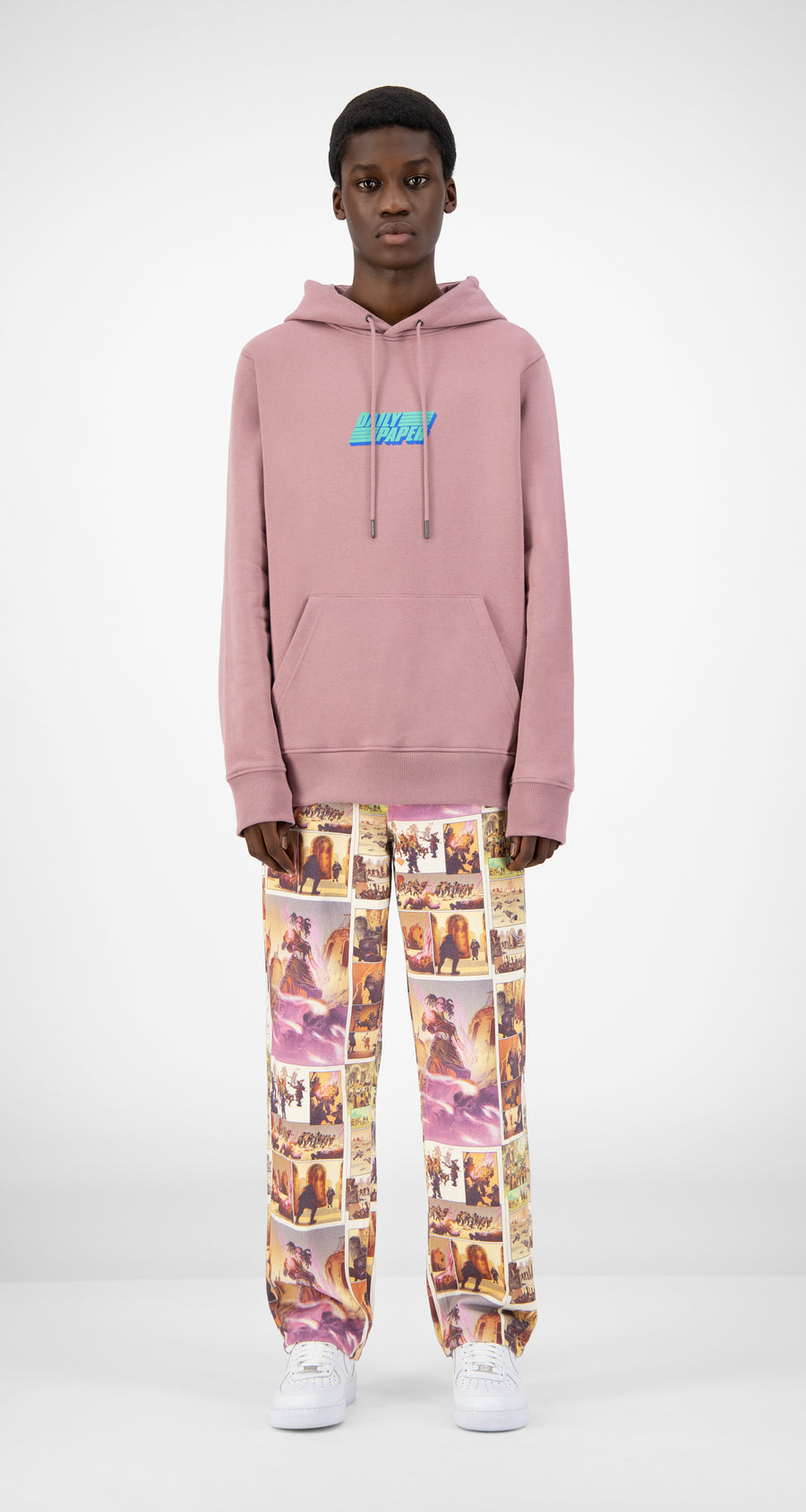 Daily Paper - Mauve Pink Jawis Hoody - Men Front