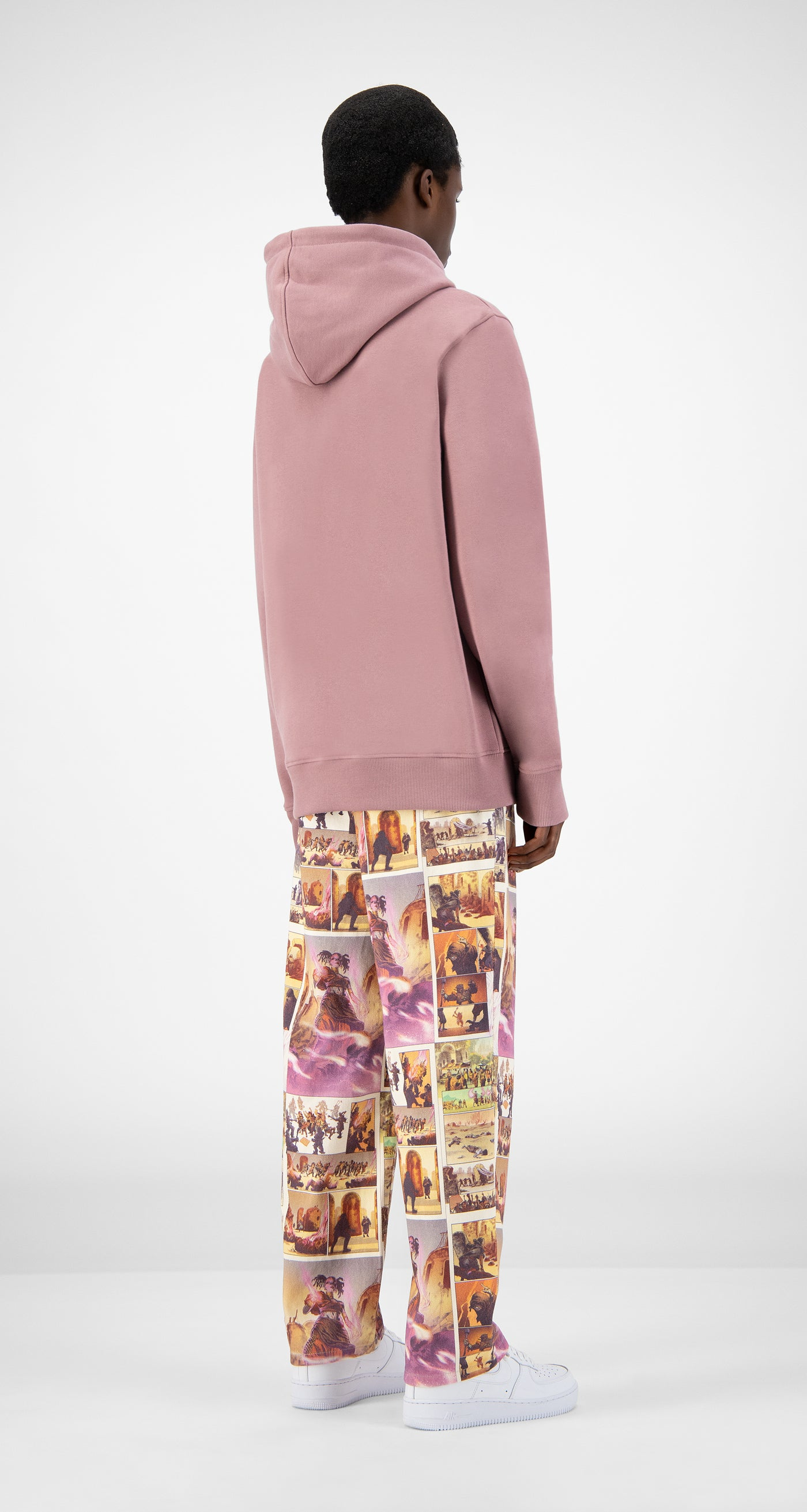 Daily Paper - Mauve Pink Jawis Hoody - Men Rear