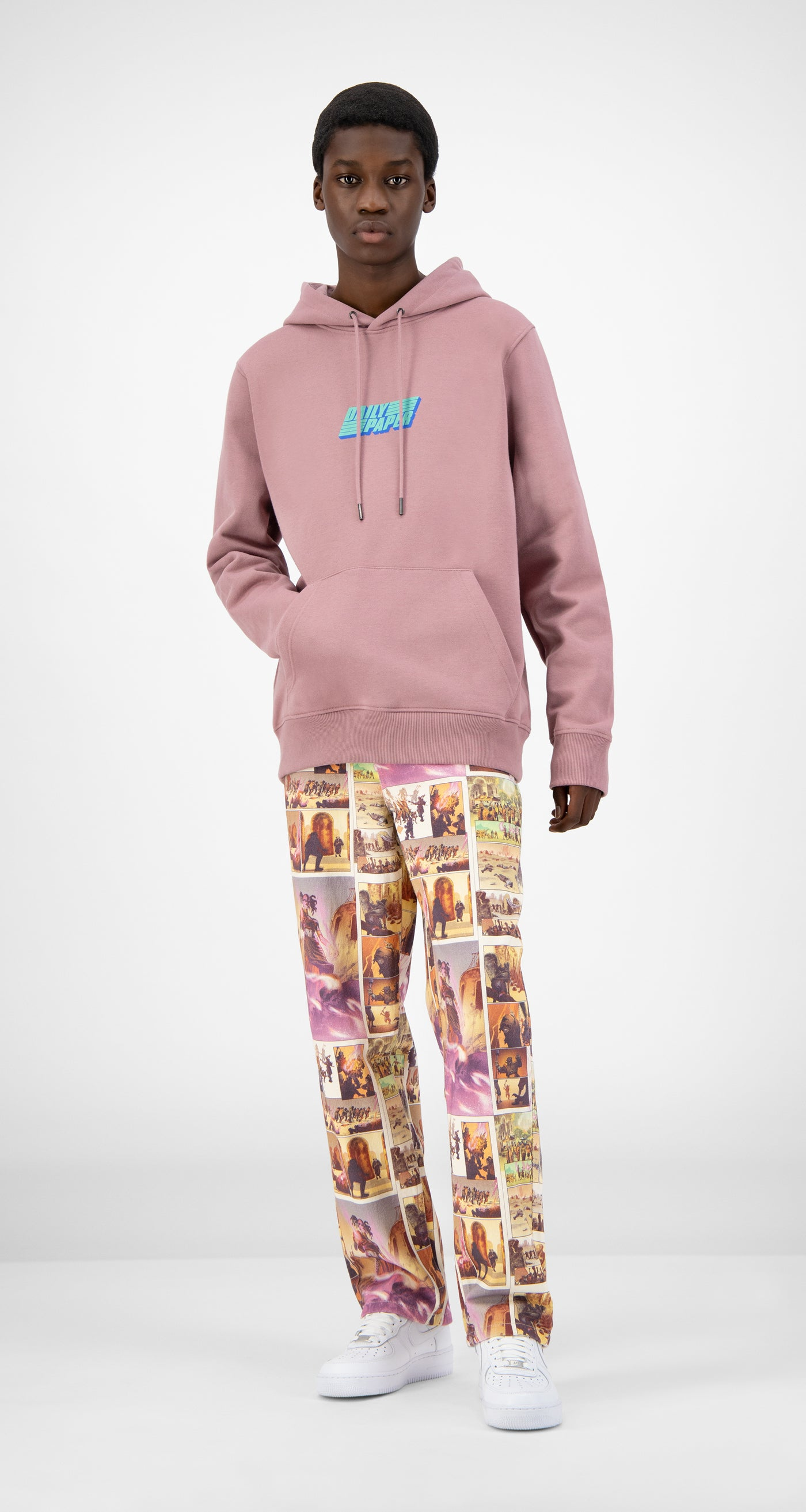 Daily Paper - Mauve Pink Jawis Hoody - Men