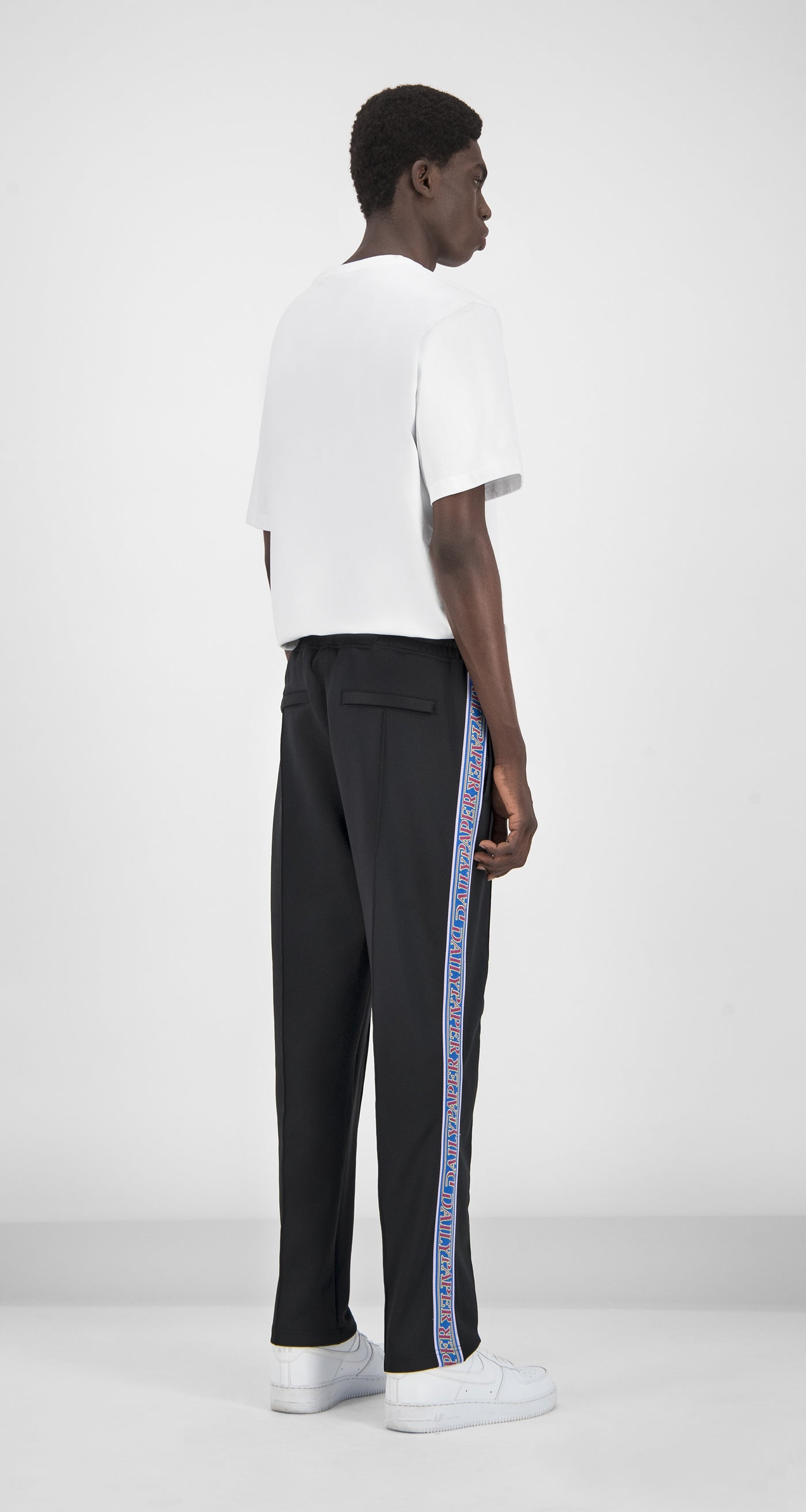 Daily Paper - Midnight Black Liba Track Pants Men Rear