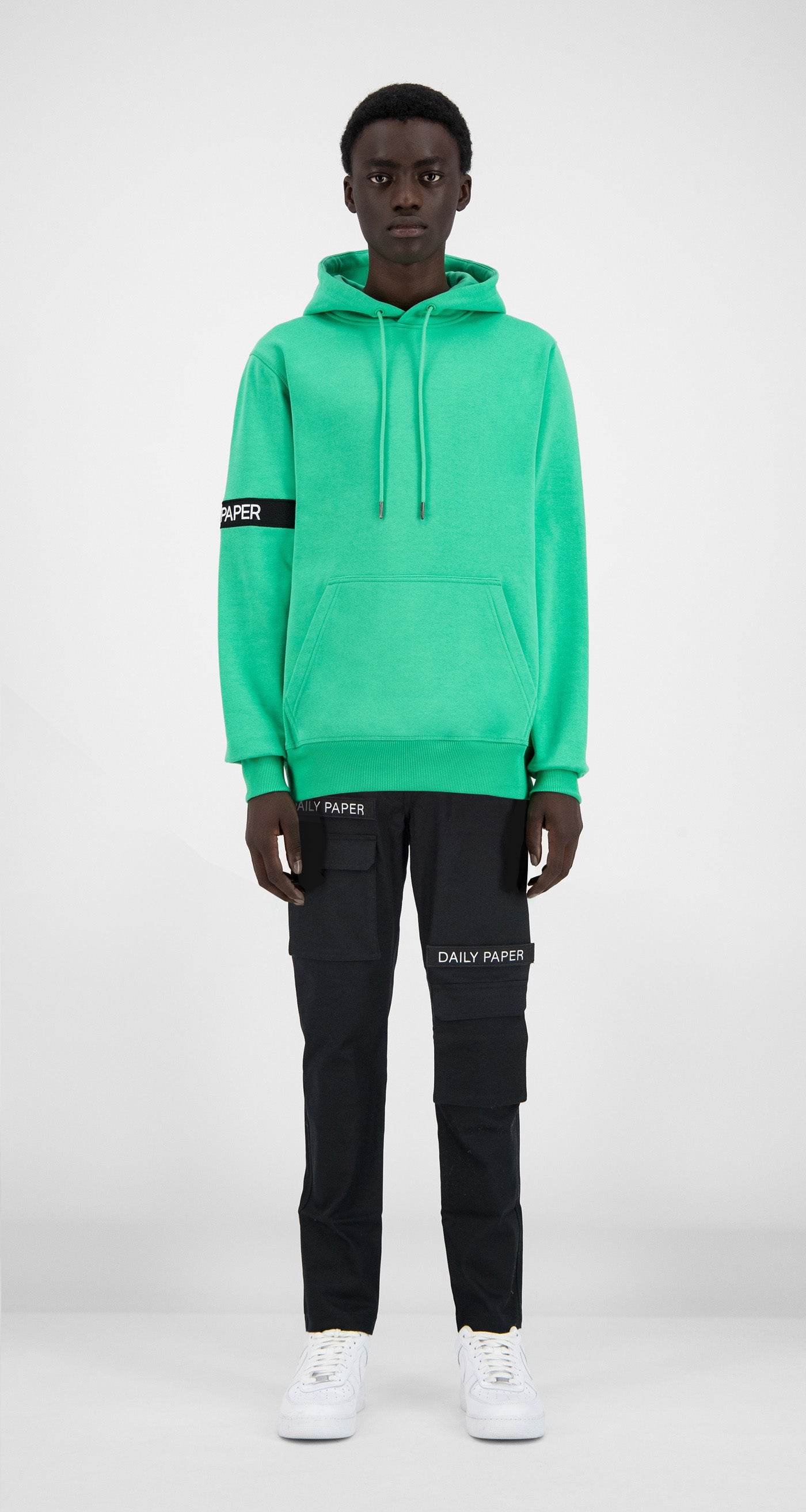 Daily Paper - Ming Green Captain Hoody - Men Front
