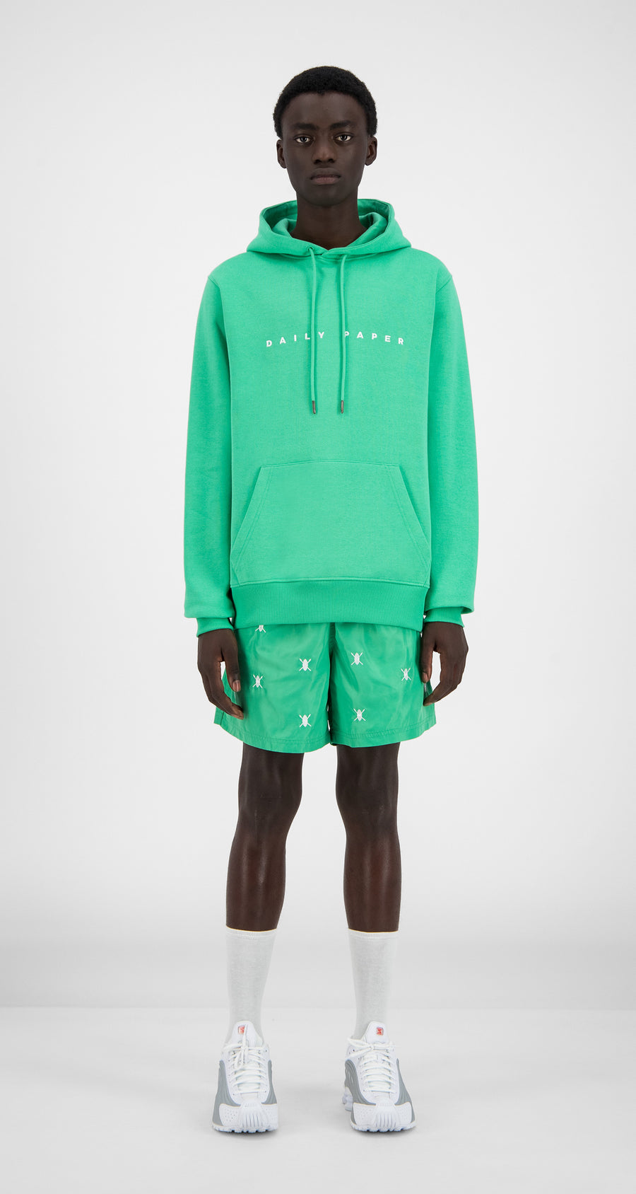 Daily Paper - Ming Green Alias Hoody - Men Front