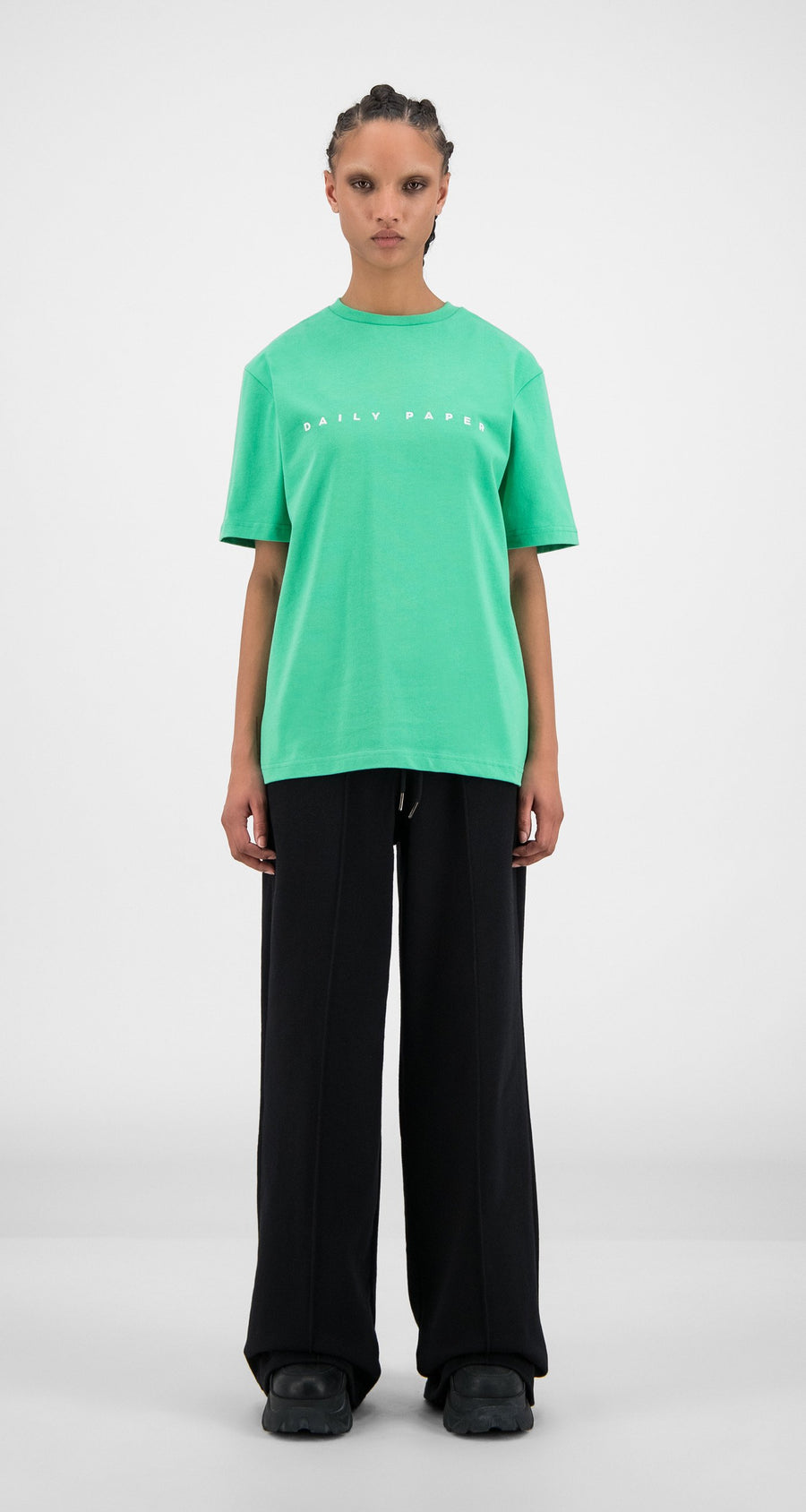 Daily Paper - Ming Green Alias T-Shirt - Women Front