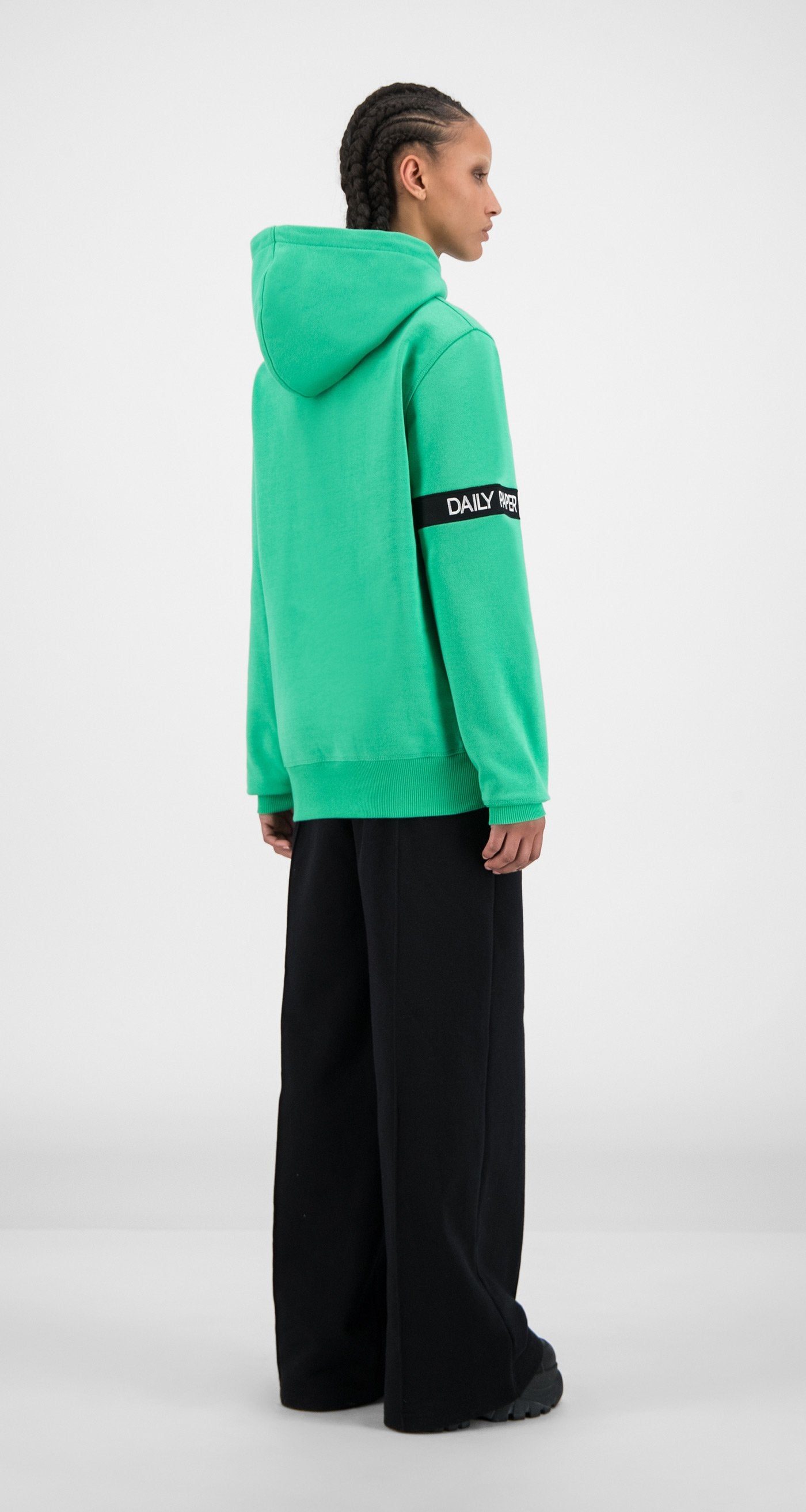 Daily Paper - Ming Green Captain Hoody - Women Rear