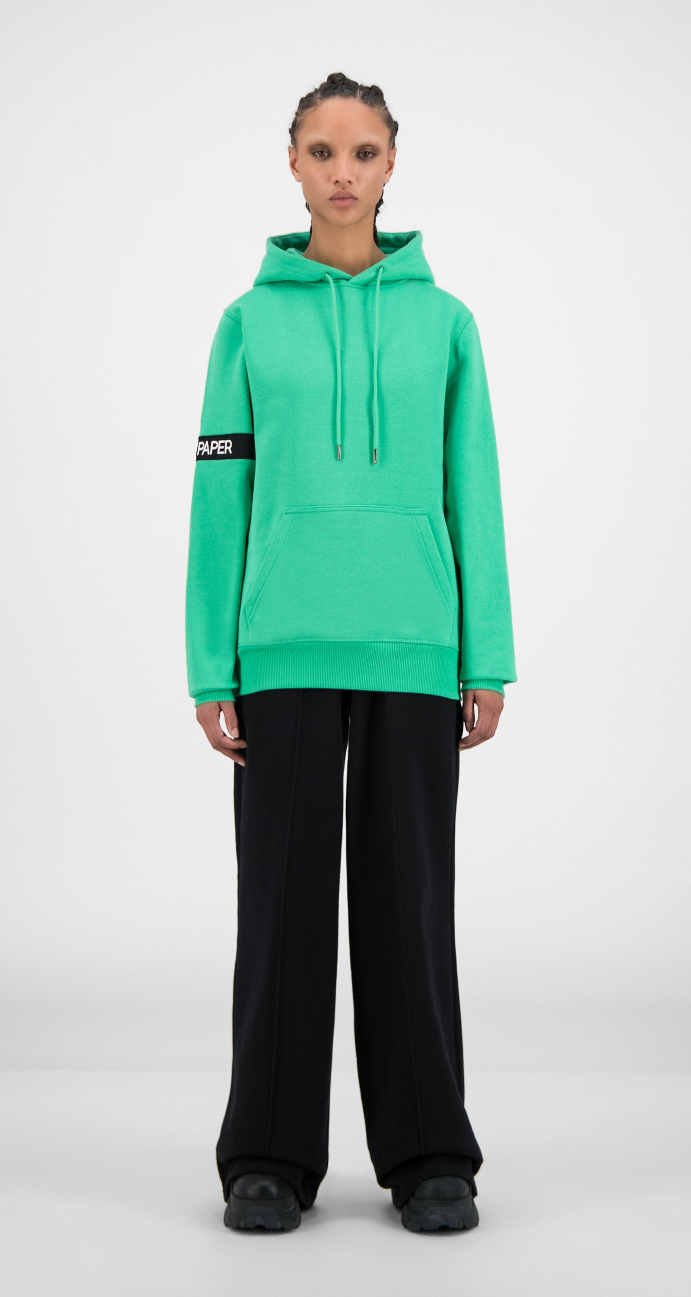 Daily Paper - Ming Green Captain Hoody - Women Front